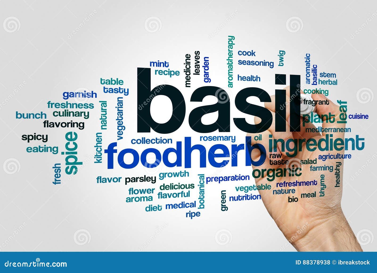 Basil word cloud