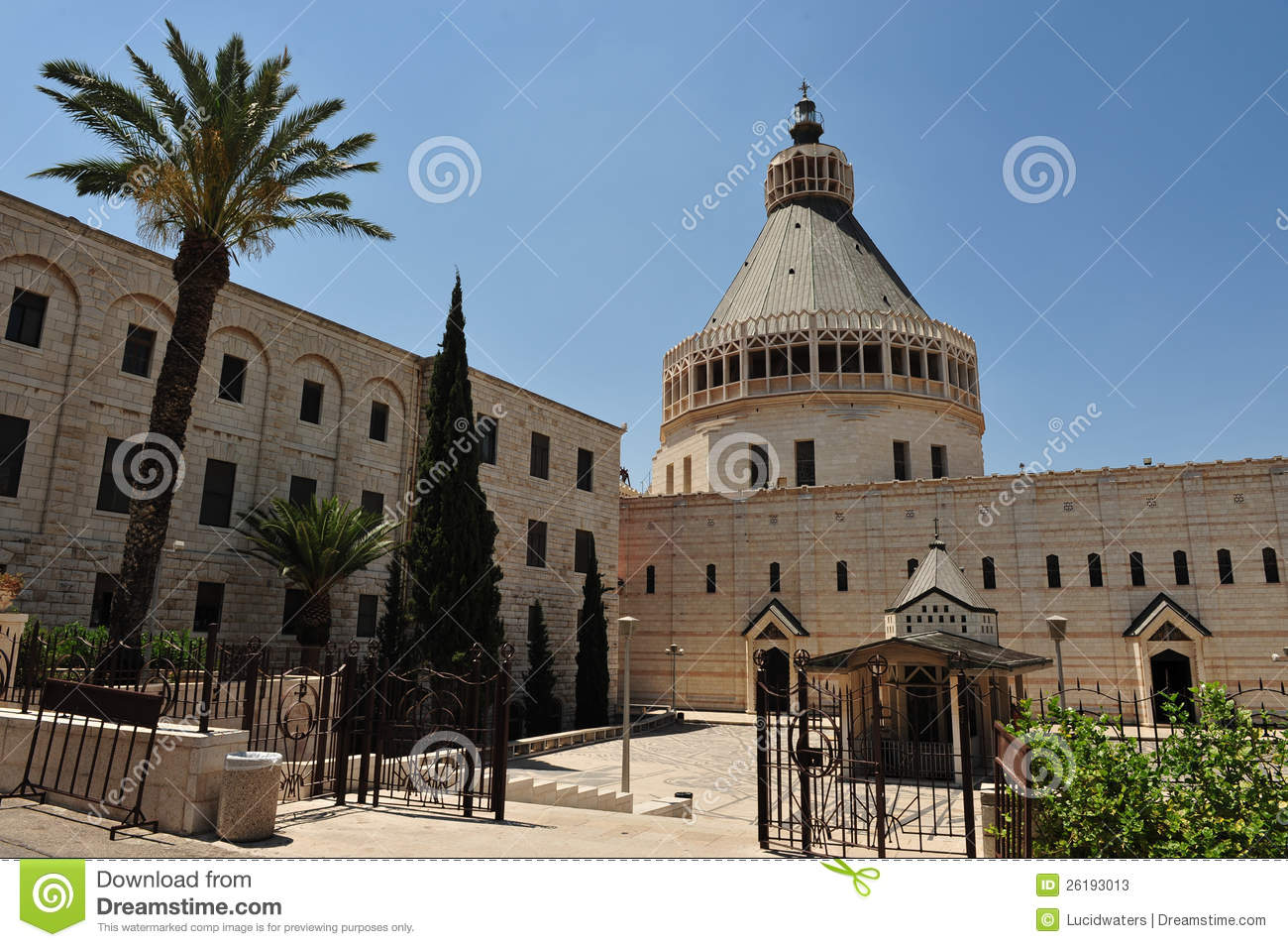 The Basilica Of The Annunciation In Nazareth Stock Image