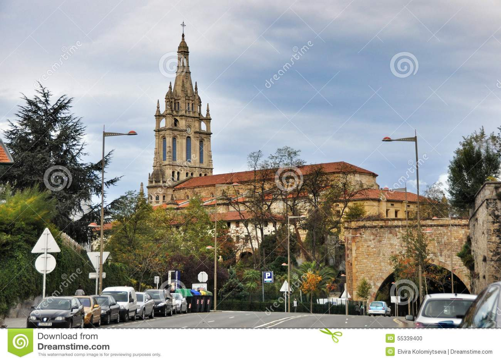 Basilica Of Begona In Bilbao Editorial Image Image Of Clear