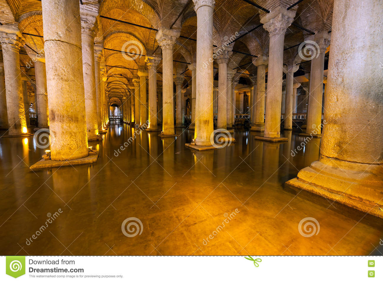 The Basilica Cistern - Underground Water Reservoir Build By