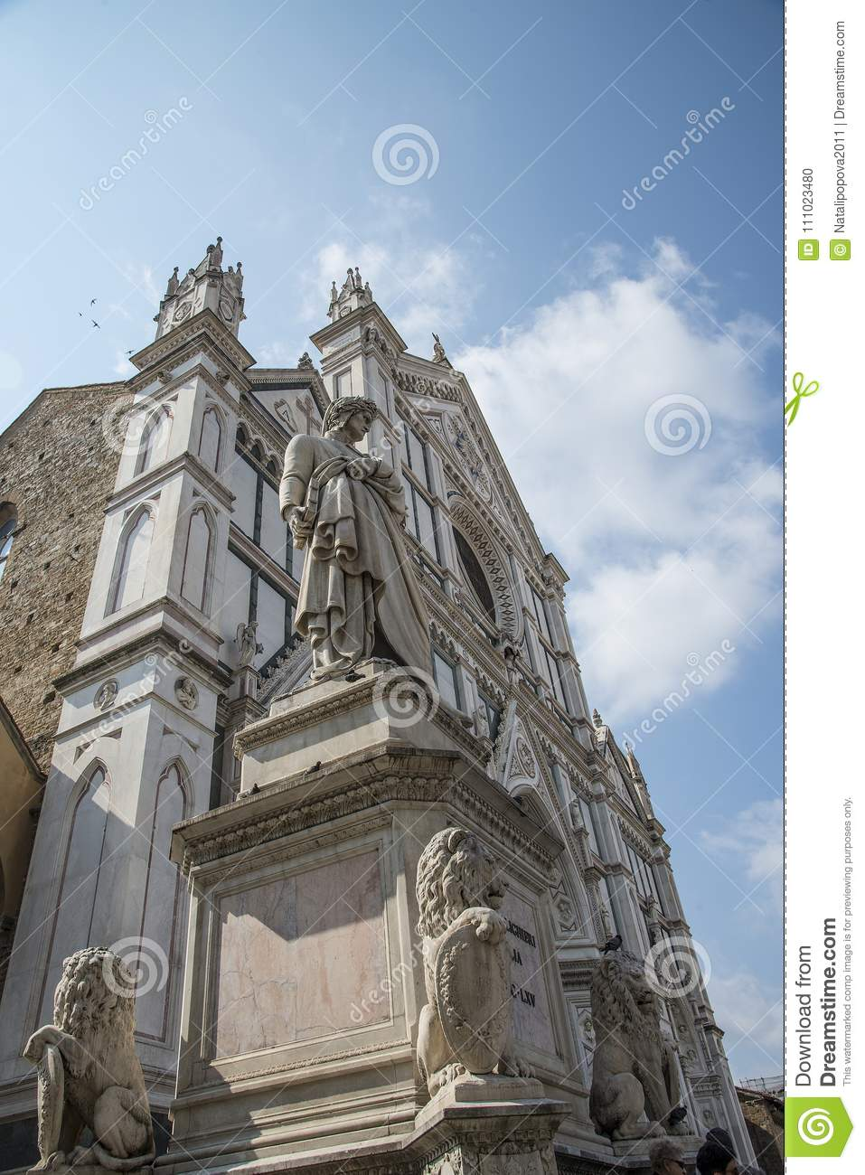 The Basilica di Santa Croce Basilica of the Holy Cross on square of the same name in Florence, Tuscany, Italy. Florence