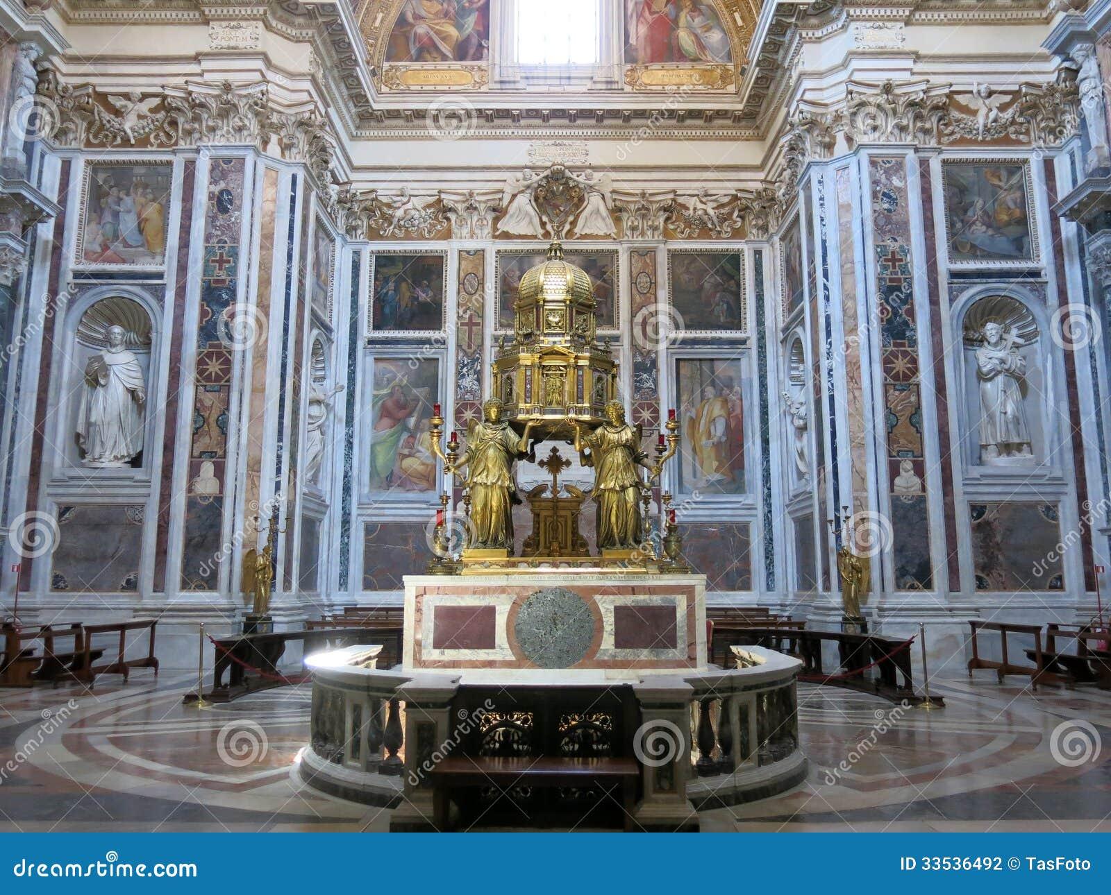 Basilica Di Santa Maria Maggiore Rome Editorial Photography Image 33536492