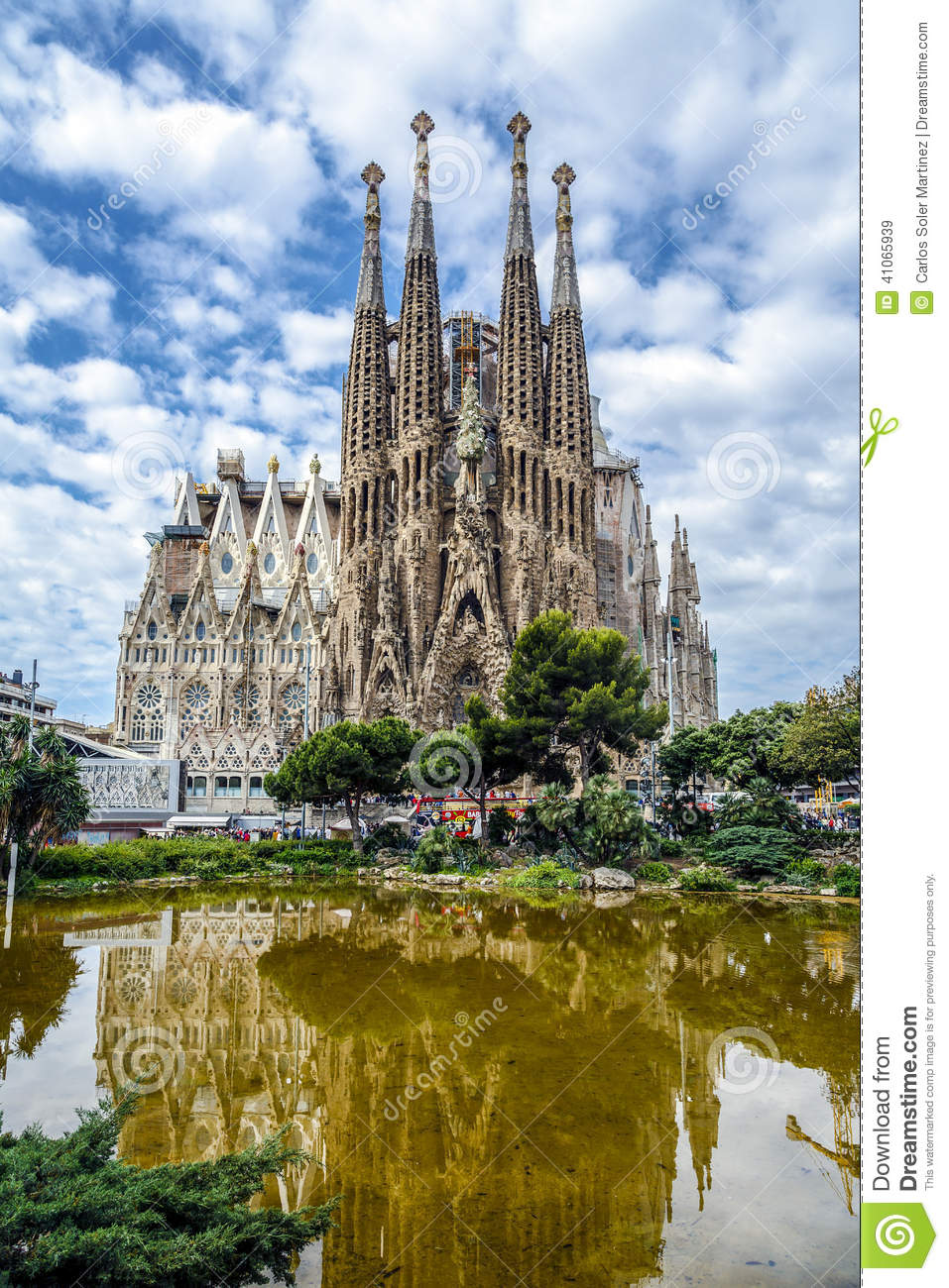 Basilica and Expiatory Church of the Holy Family by Gaudi