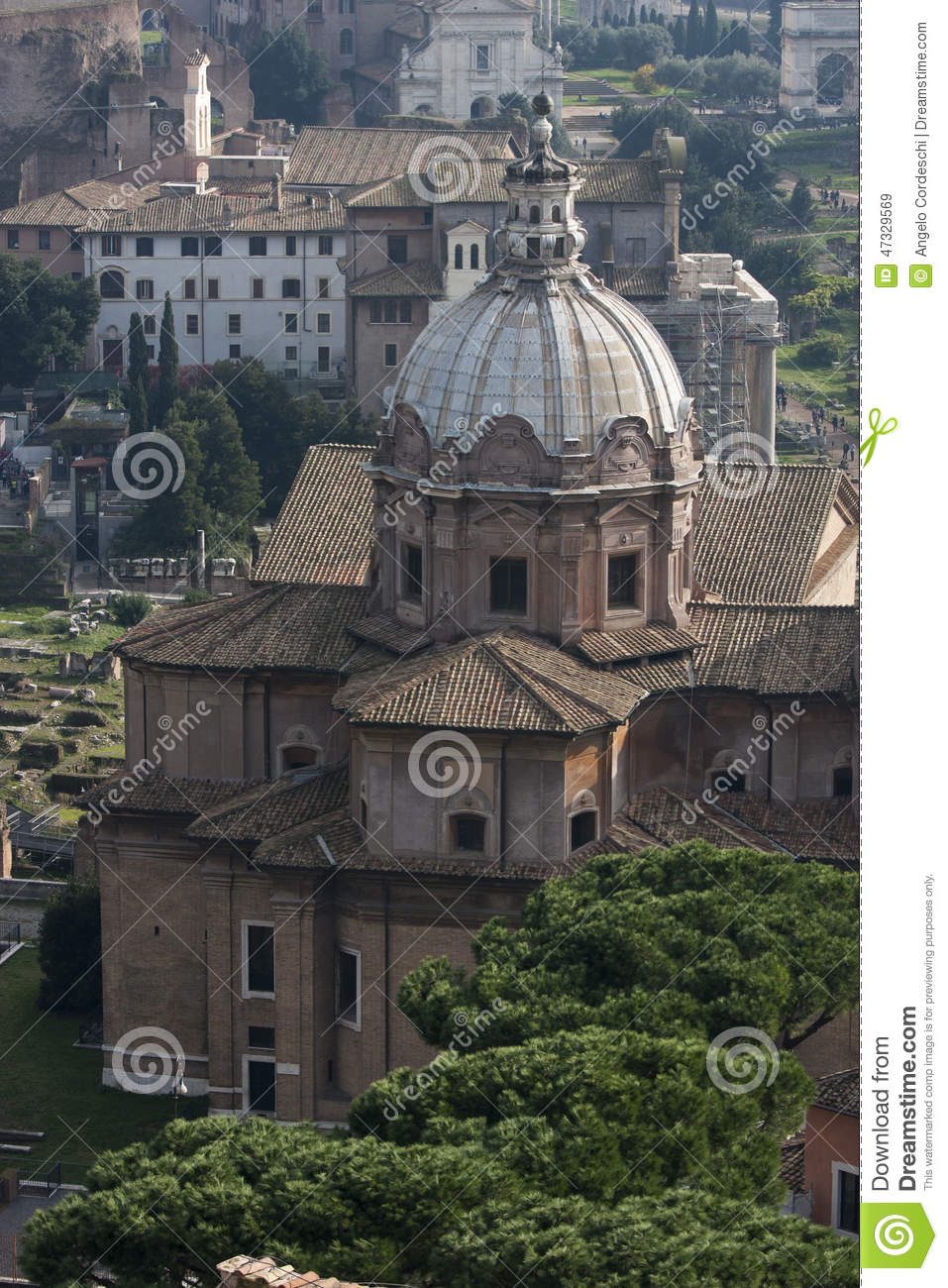 Basilica porcia aerial view via del tulliano roman for Builders first