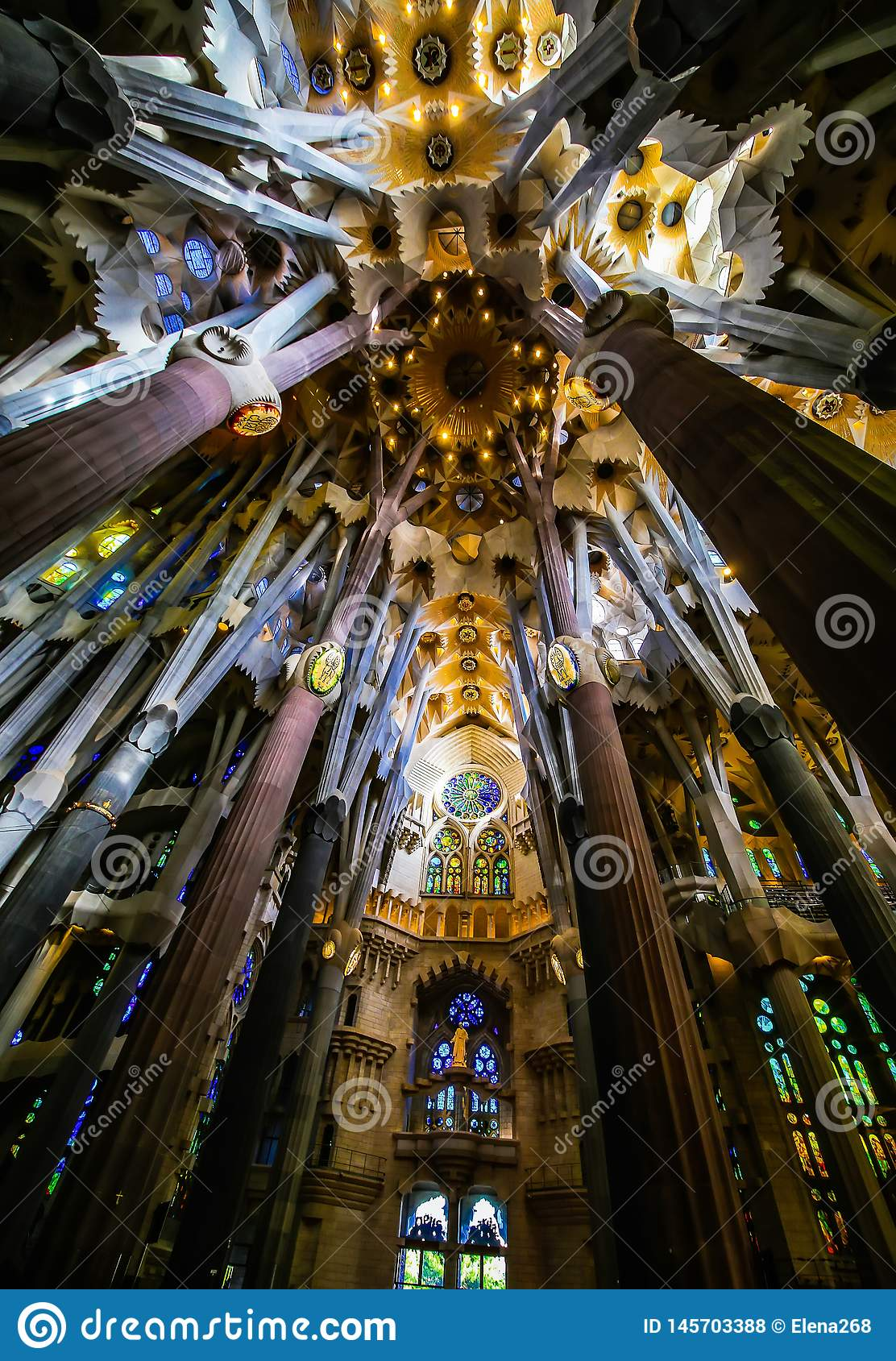 Basilica of redemptive temple of the Holy Sagrada family by Antonio Gaudi