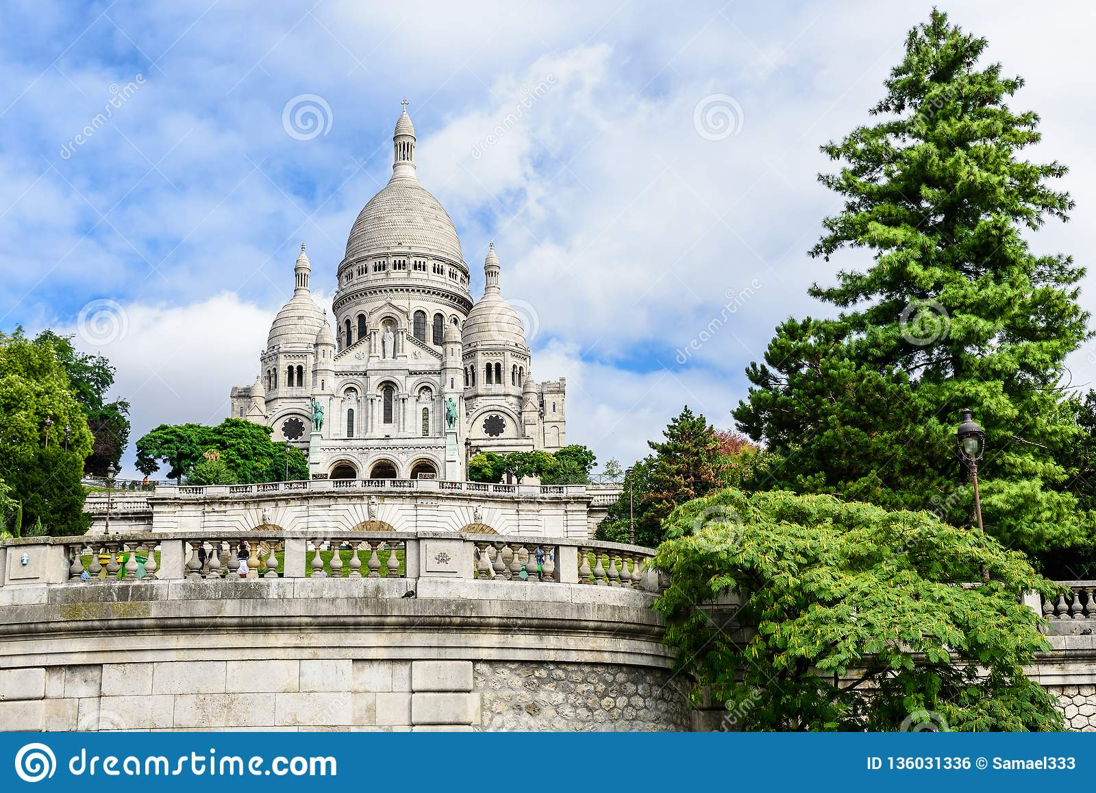 Basilica Sacre Coeur in Montmartre in Paris, France