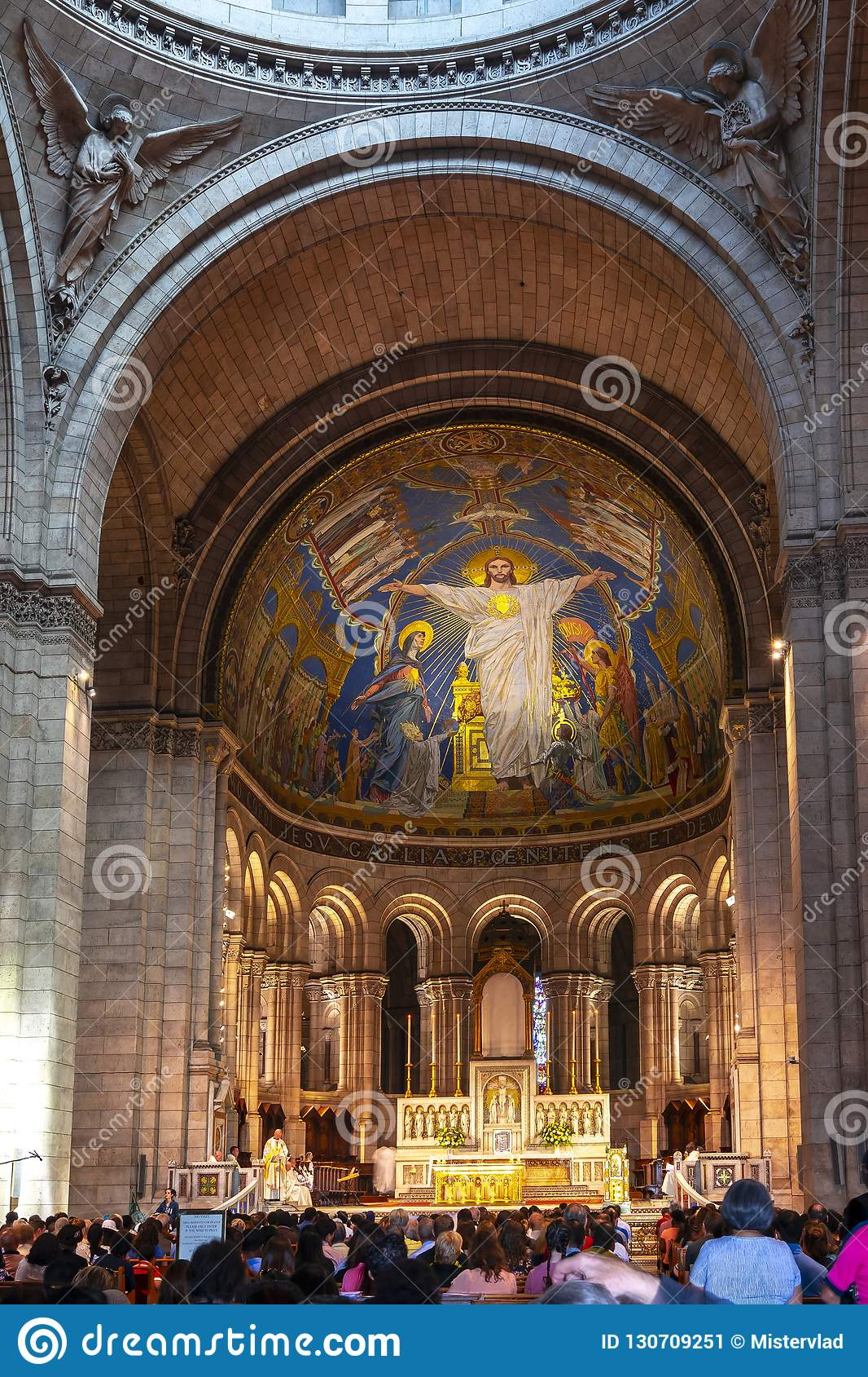 Basilica Of Sacre Coeur Sacred Heart Interior Paris France