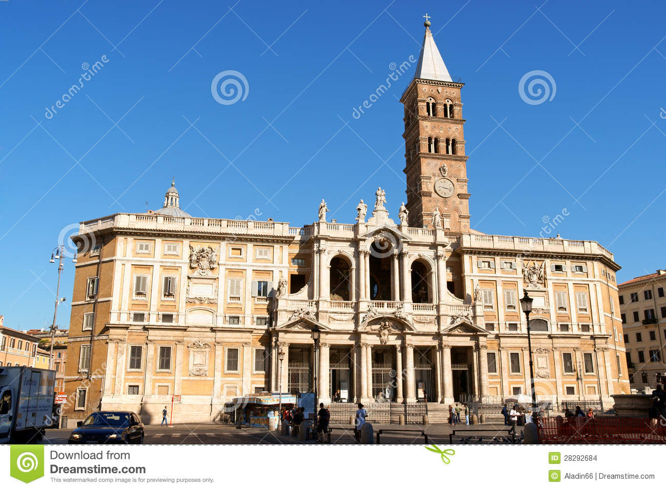 Basilica Of Saint Mary Major In Rome Editorial Stock Image - Image ...