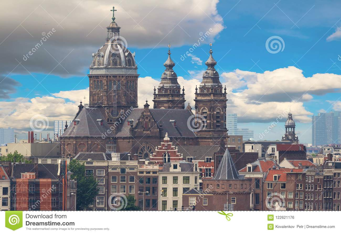 The Basilica of Saint Nicholas is located in the Old Centre district of Amsterdam, Netherlands.