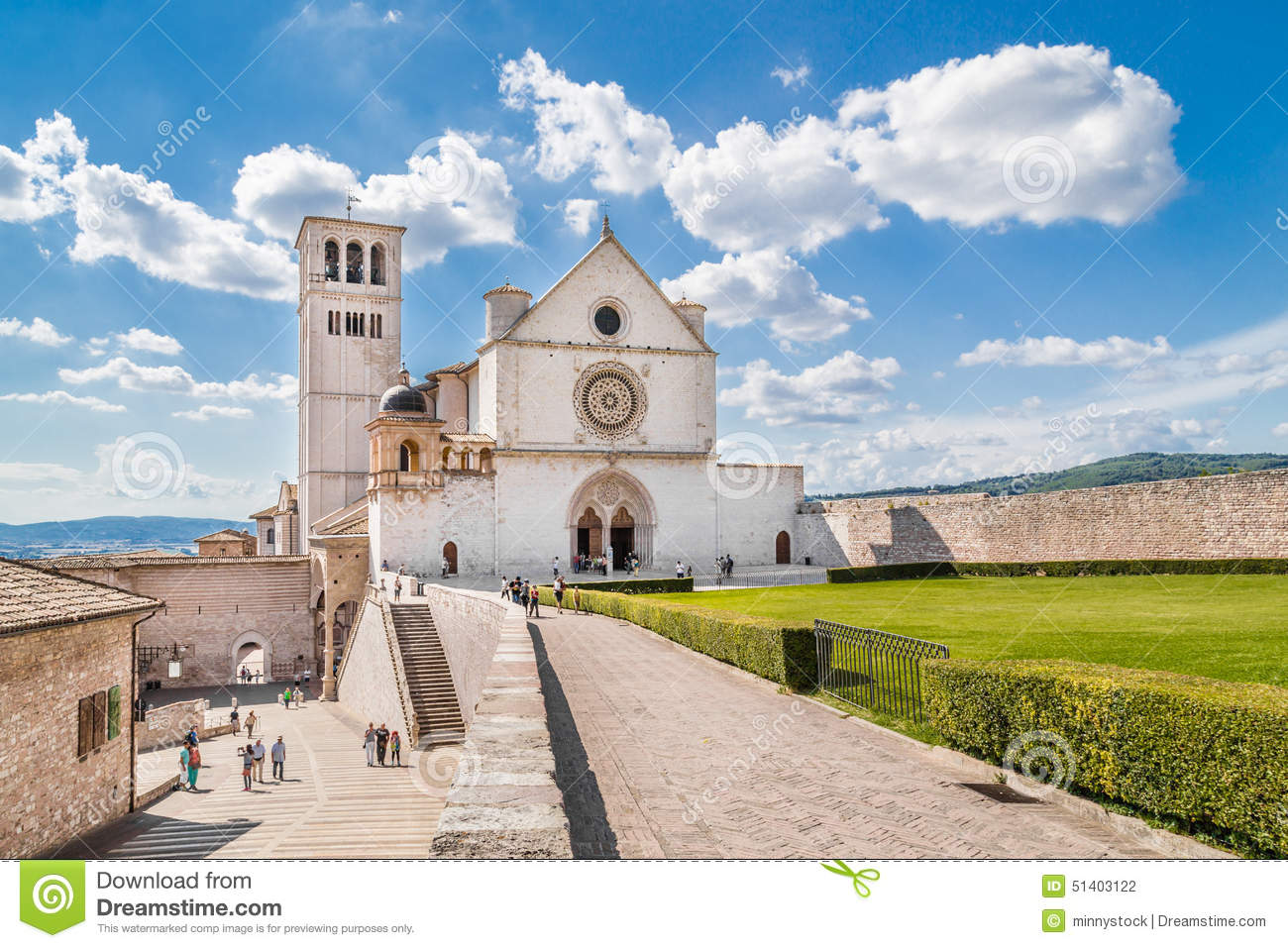 Basilica of St. Francis of Assisi in Assisi, Umbria, Italy