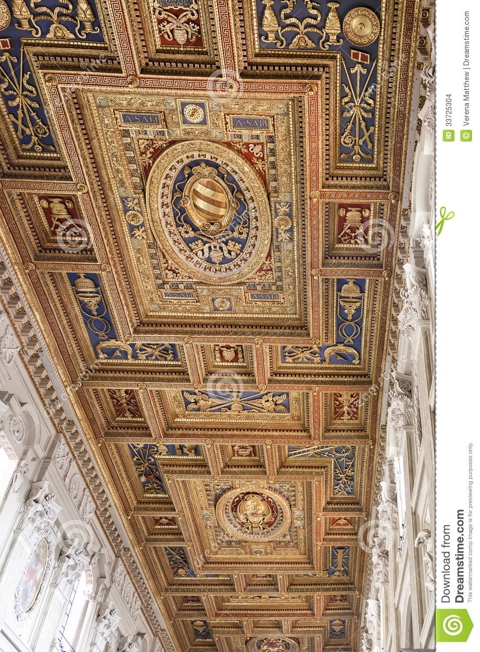 Basilica Of St John Lateran Ceiling Stock Photo Image