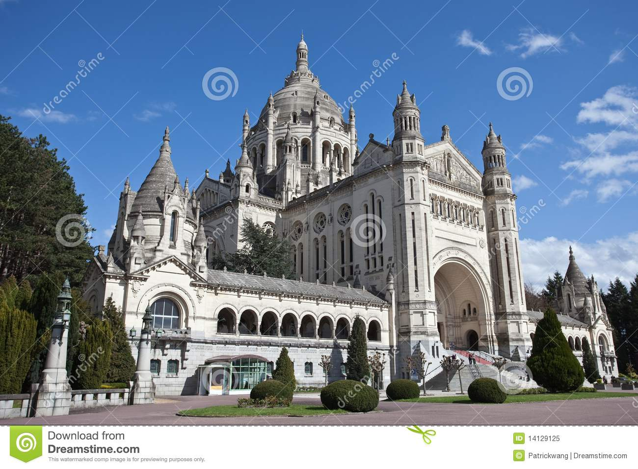 Lisieux France  city photos : Basilica Of St. Therese Of Lisieux France Royalty Free Stock Photo ...