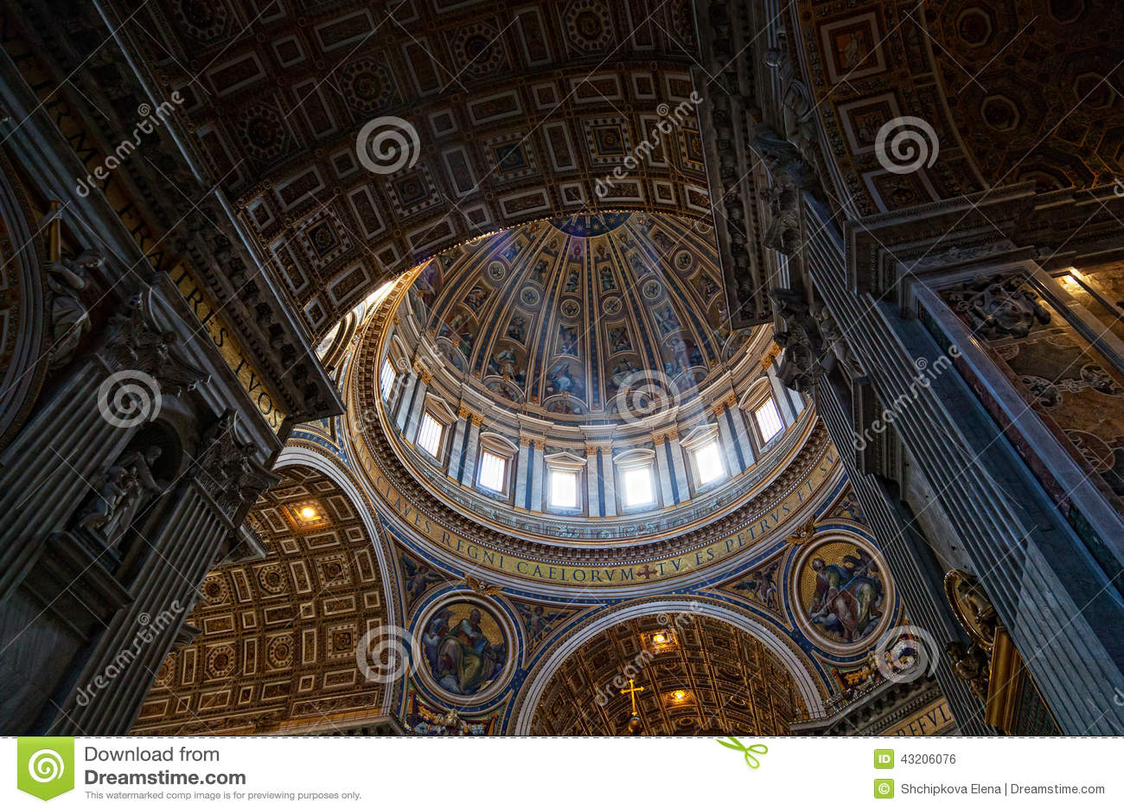Download Basilicapeter s st arkivfoto. Bild av kyrka, inre, skulptur - 43206076