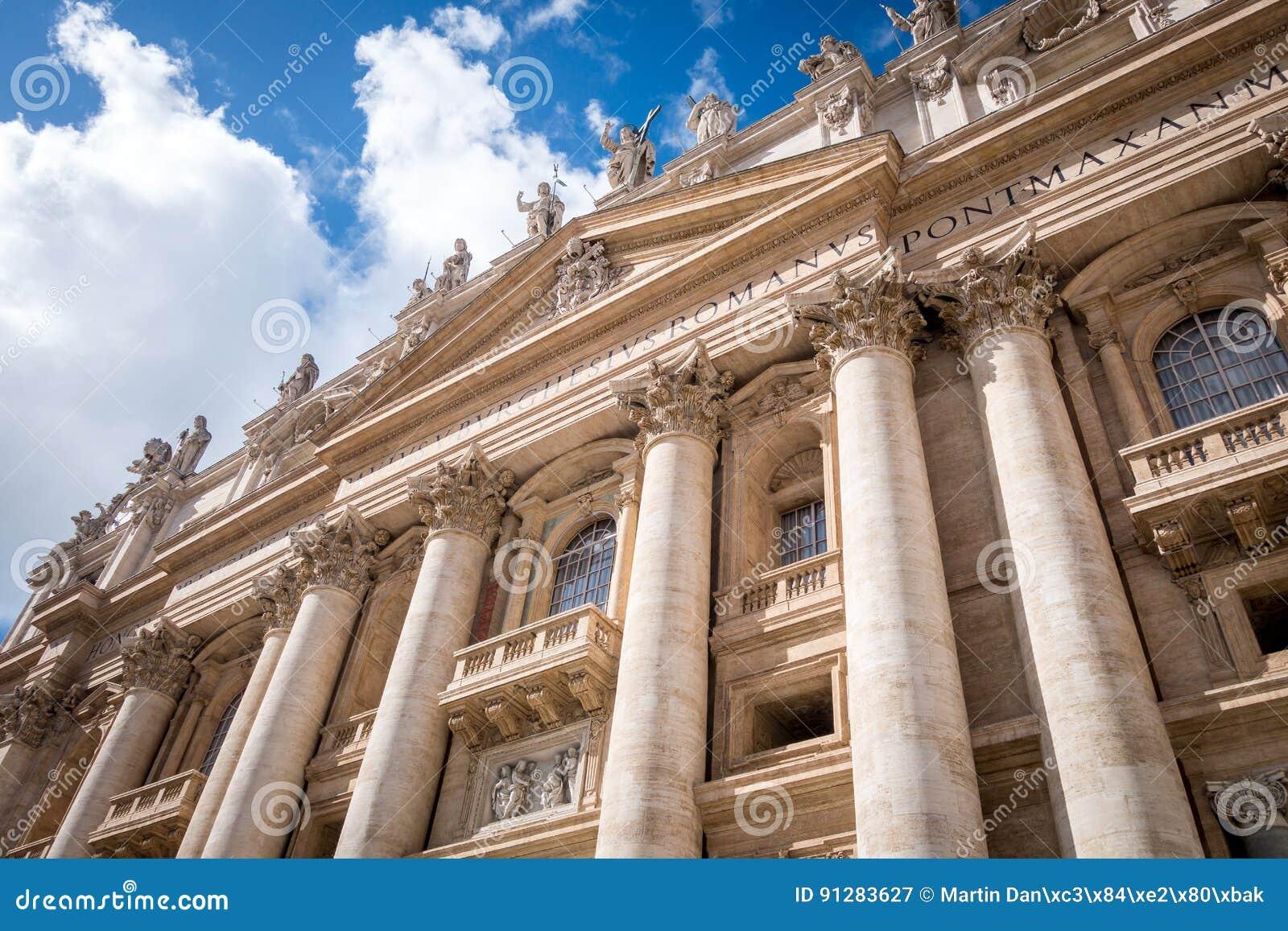 Basilika av helgonet Peter San Pietro i Vaticanen, Rome