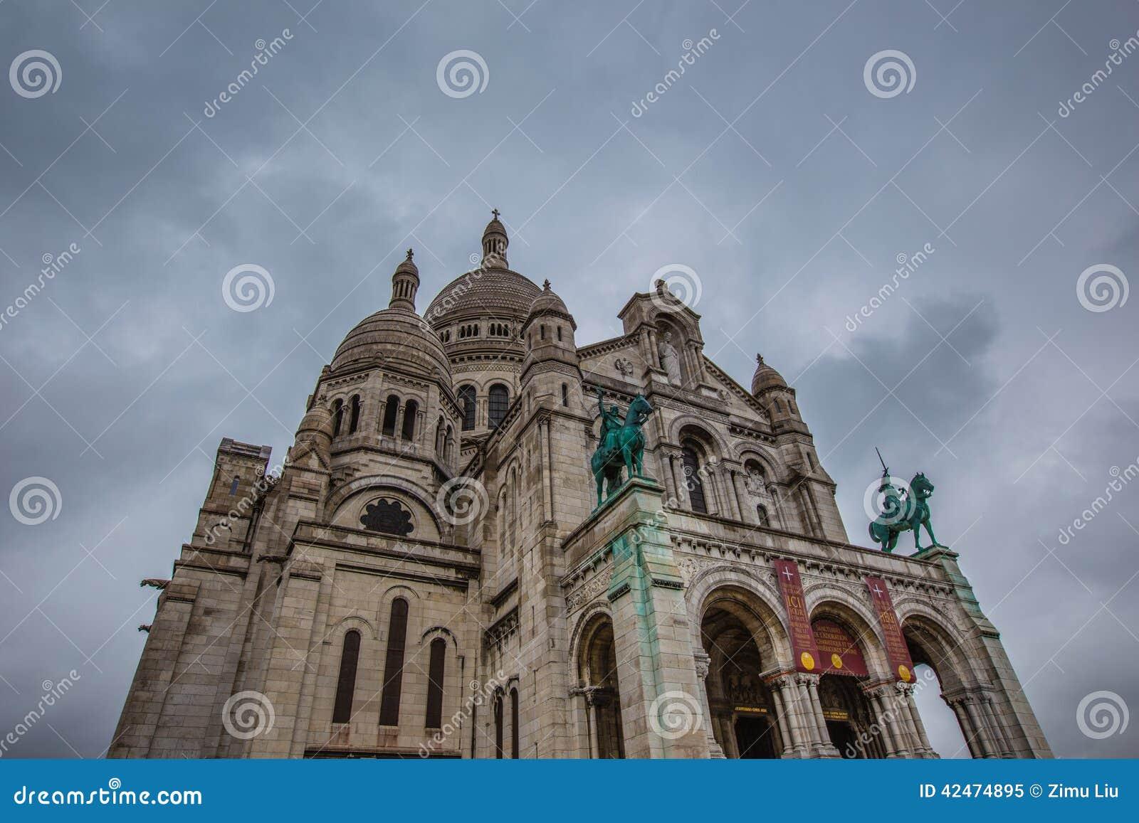 Basilika Sacre Coeur in Paris Frankreich