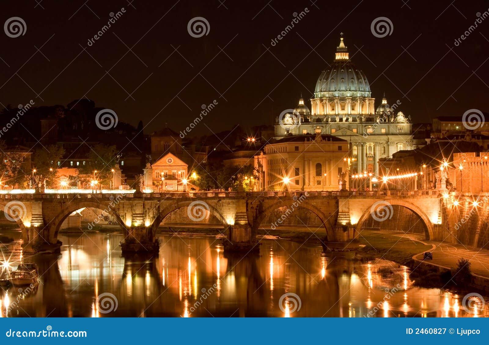 Basilika Str.-Peters nachts