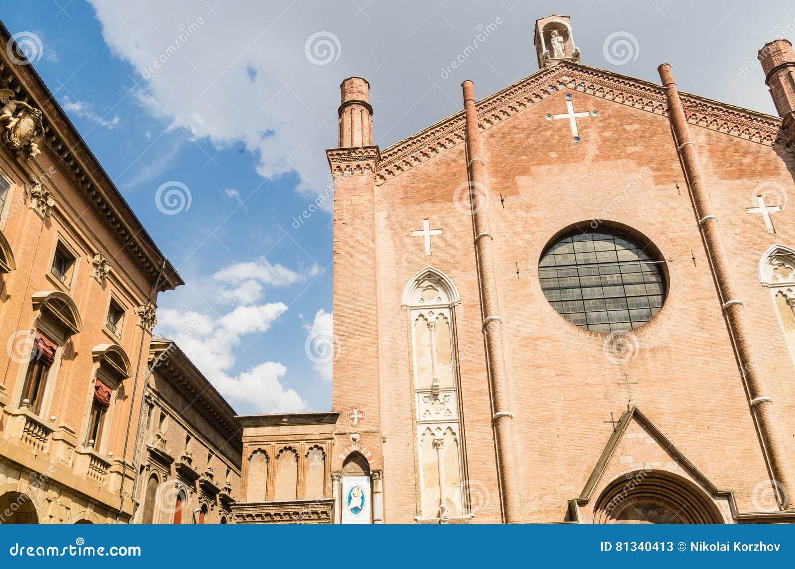 Basilika Von San Giacomo Maggiore Im Bologna, Italien Stockbild ...