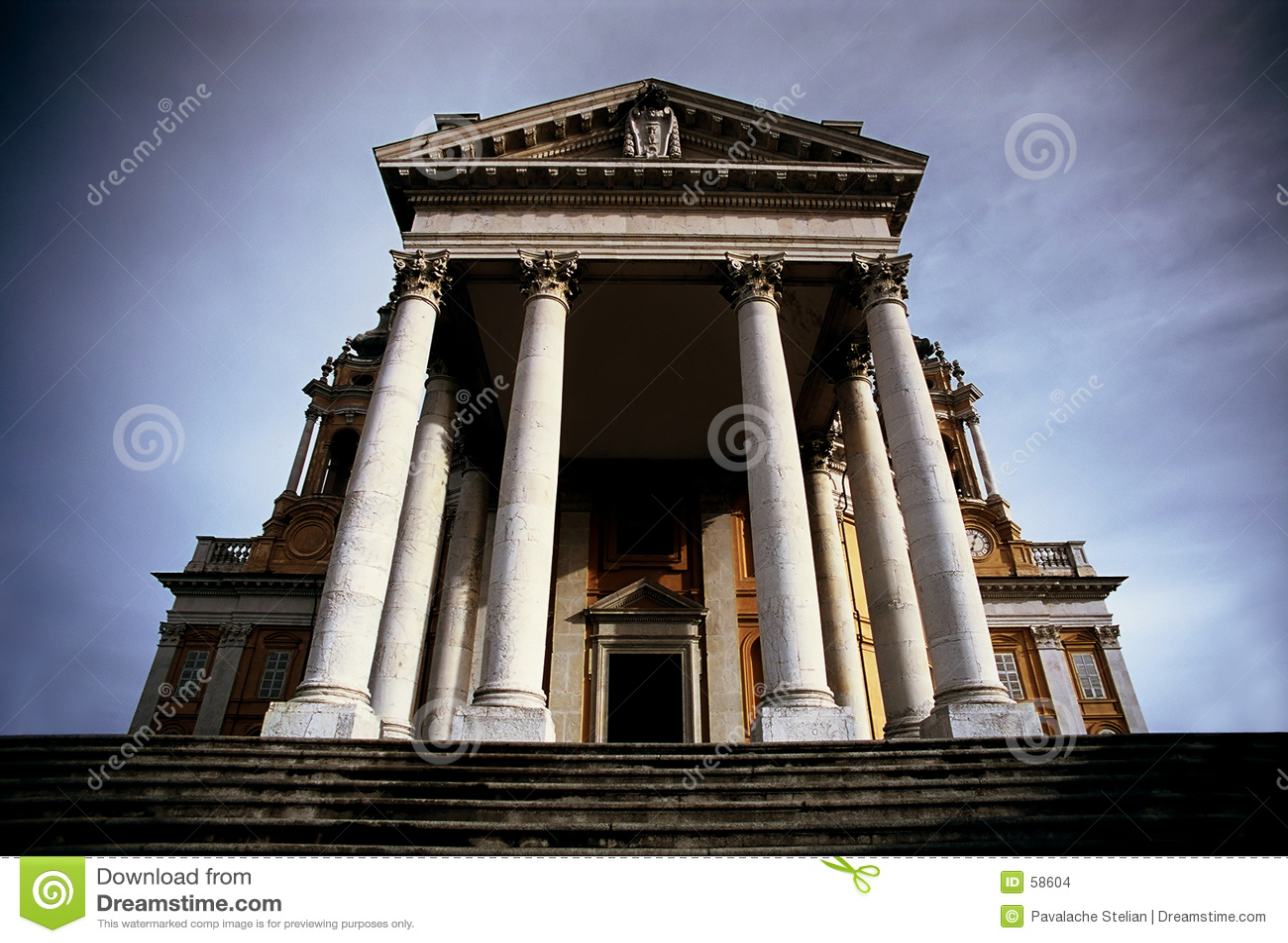 Download Basilique Superga photo stock. Image du italie, grand, skyward - 58604