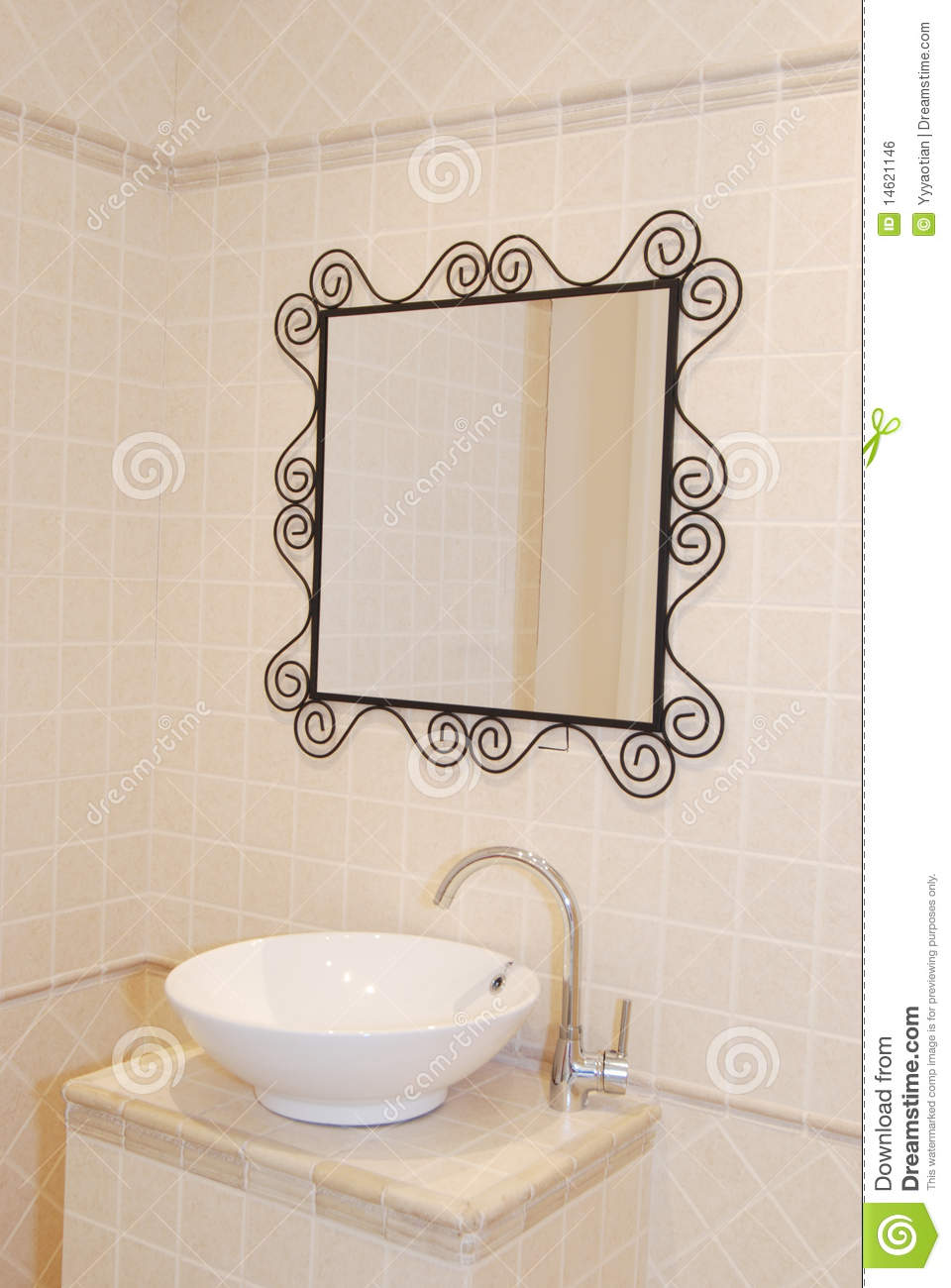 Basin In The Bathroom Royalty Free Stock Image Image
