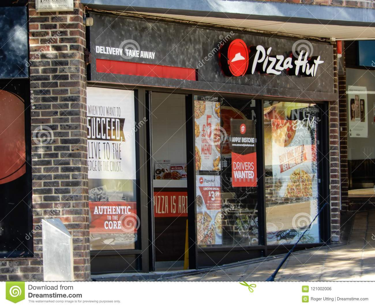 Pizza Hut Frontage Editorial Photo Image Of Food Frontage