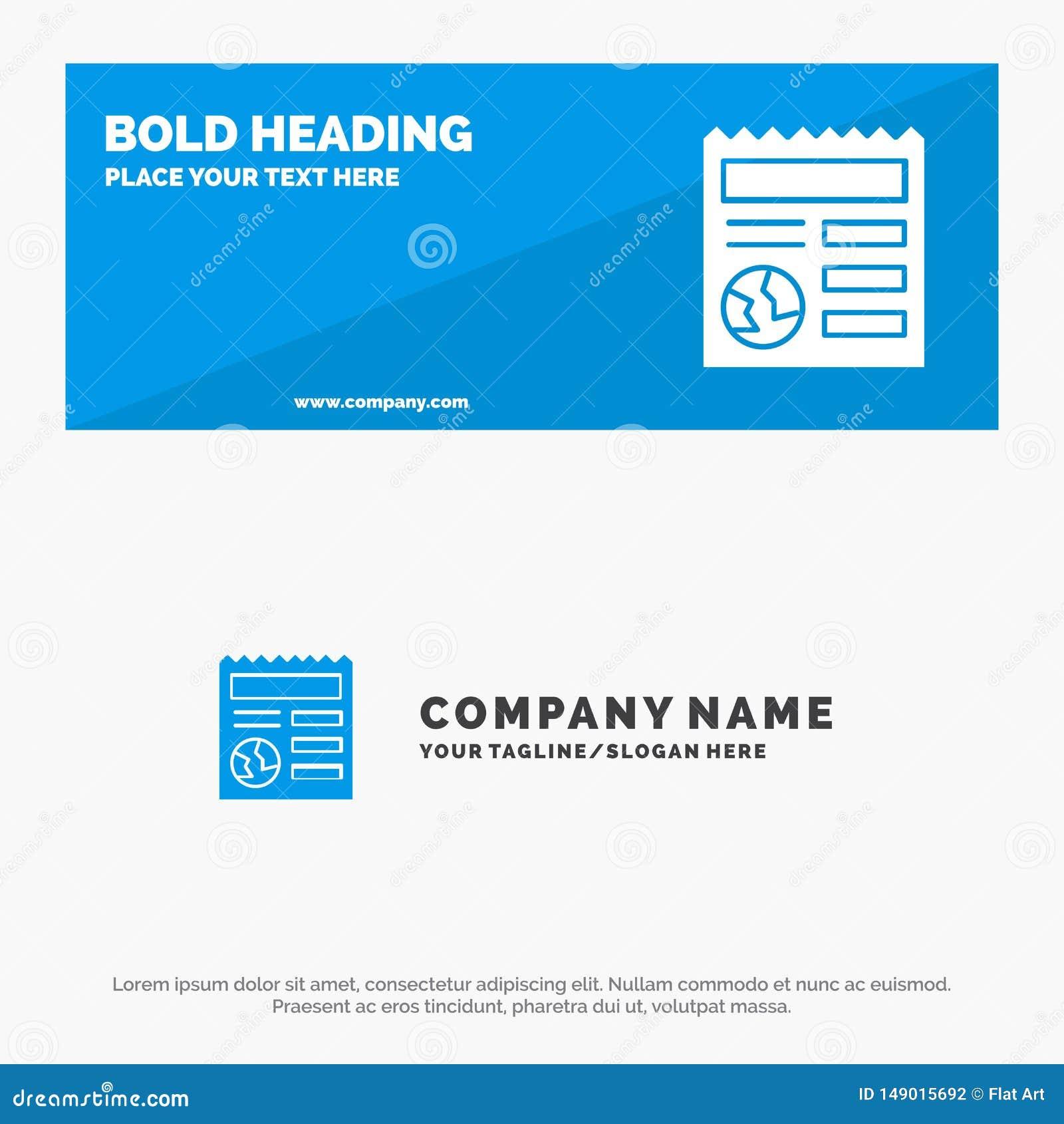 Basis, Document, Bol, van de het Pictogramwebsite van Ui de Stevige Banner en Zaken Logo Template