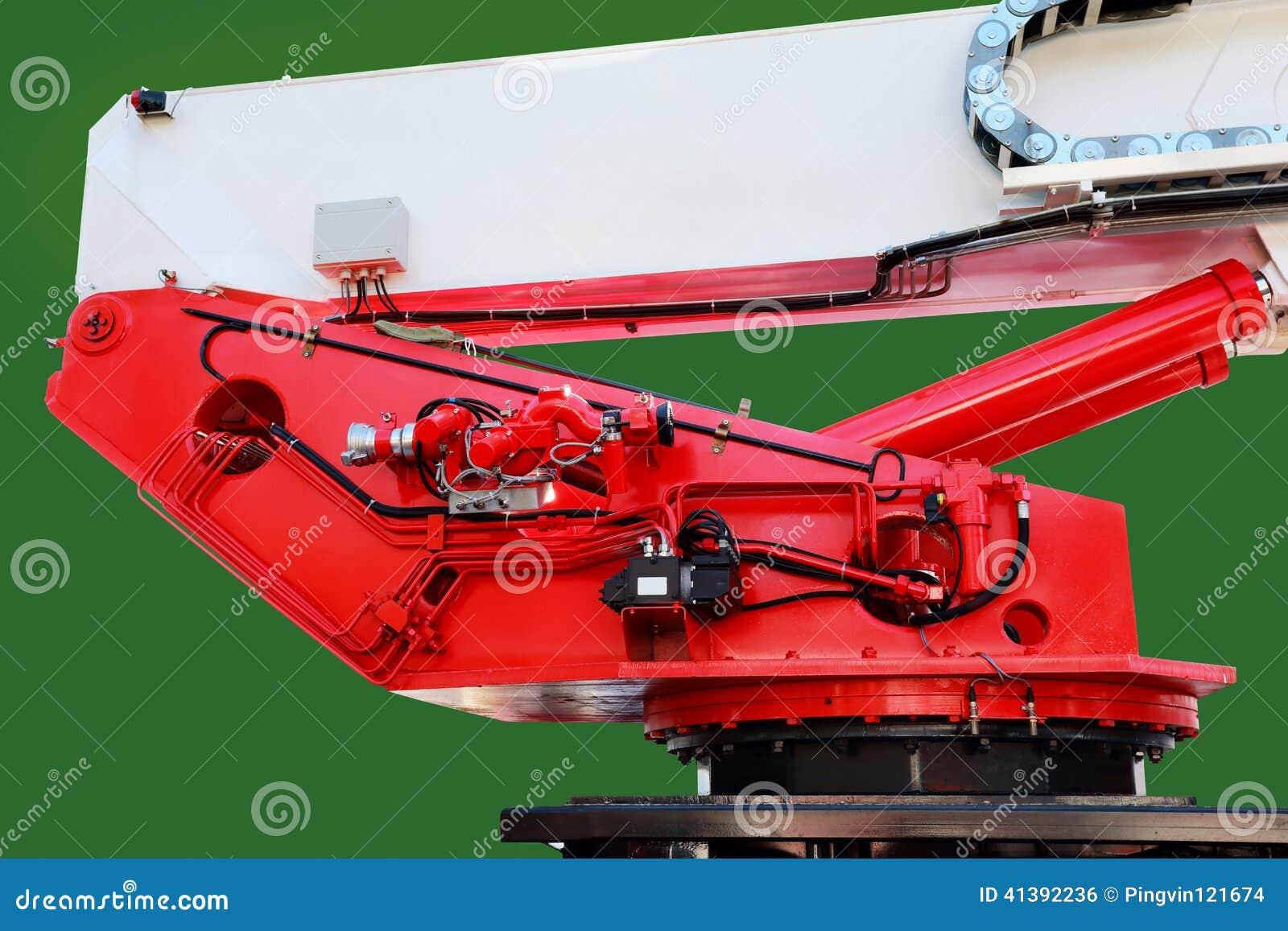 Basis van het hijstoestel van de brandvrachtwagen