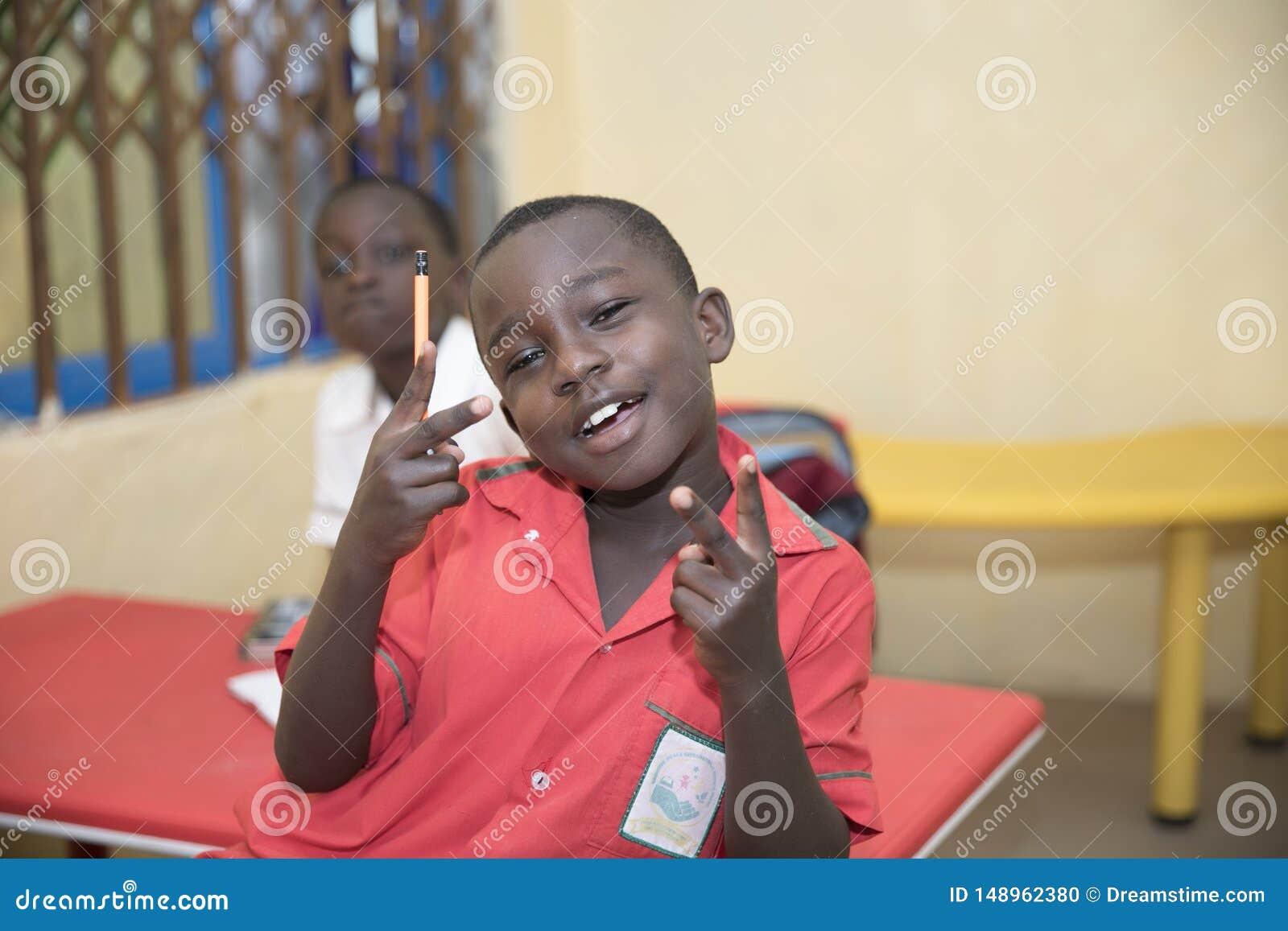 Basisschoolkinderen van Ghana, West-Afrika