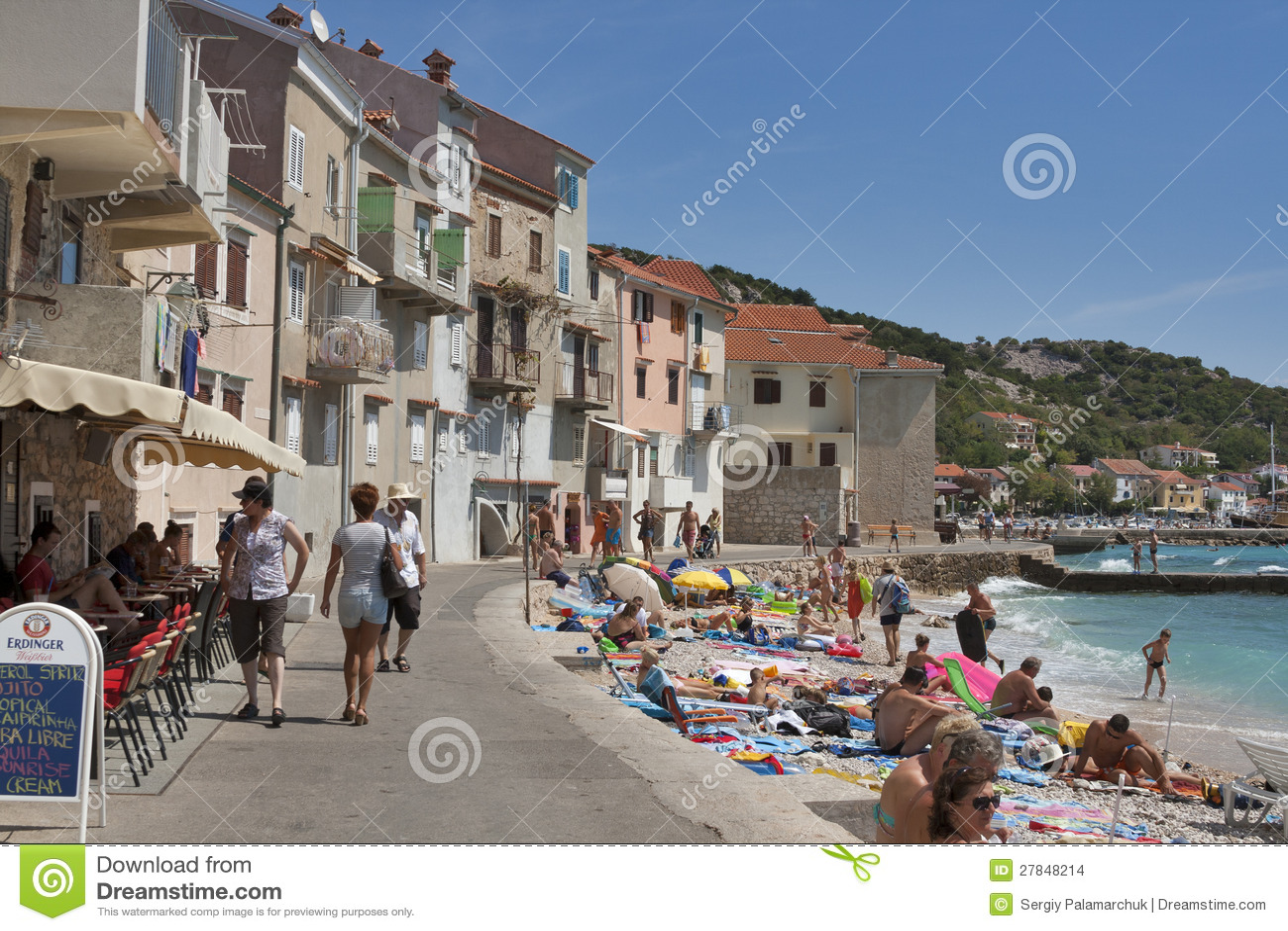 Baska seafront, Croatia