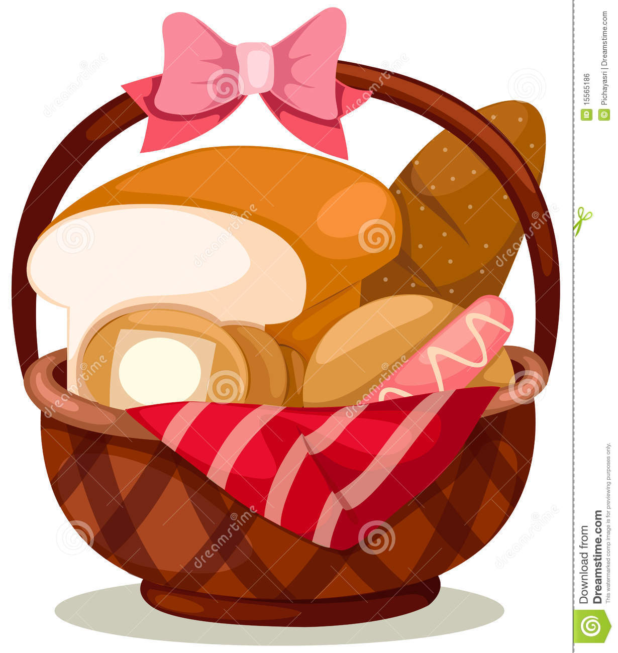 Basket Of Bread Royalty Free Stock Image Image 15565186