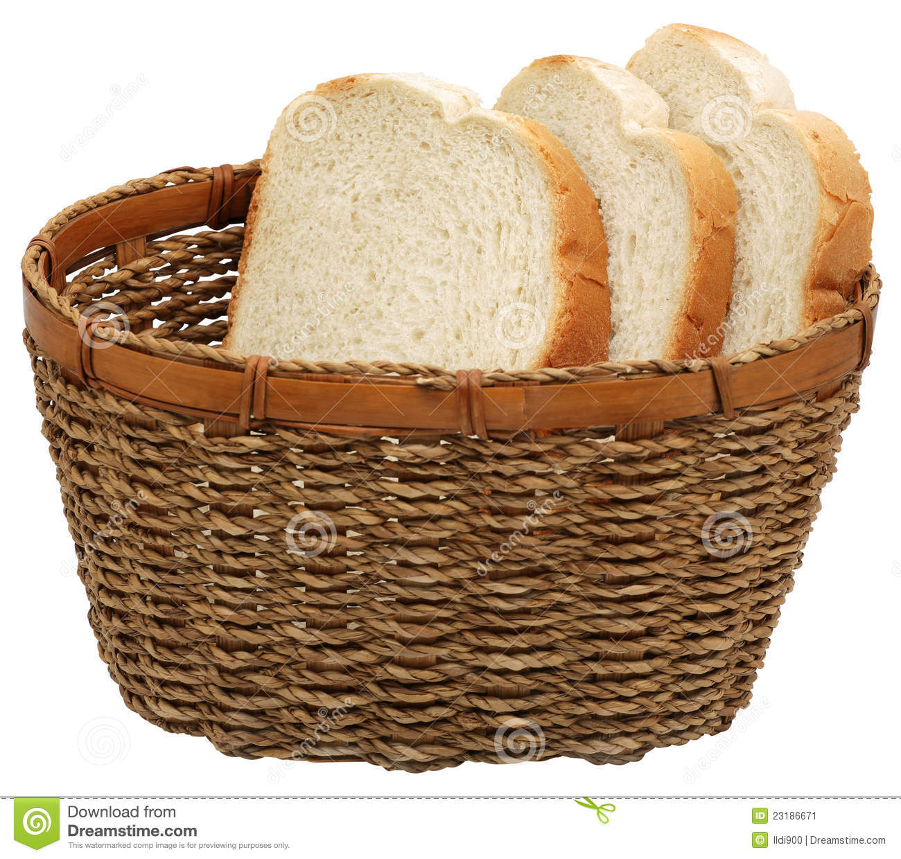 Basket with bread. stock image. Image of slice, buns ...