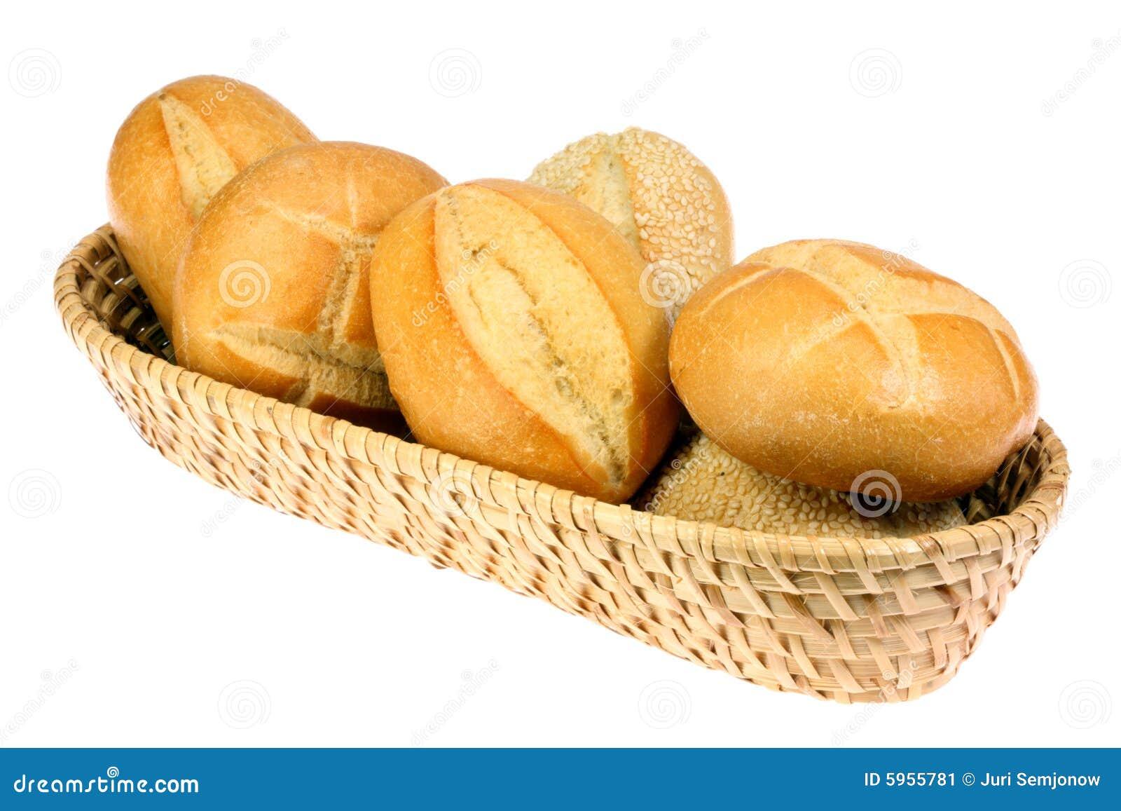Basket Of Bread Rolls Stock Image Image Of Basket Meal