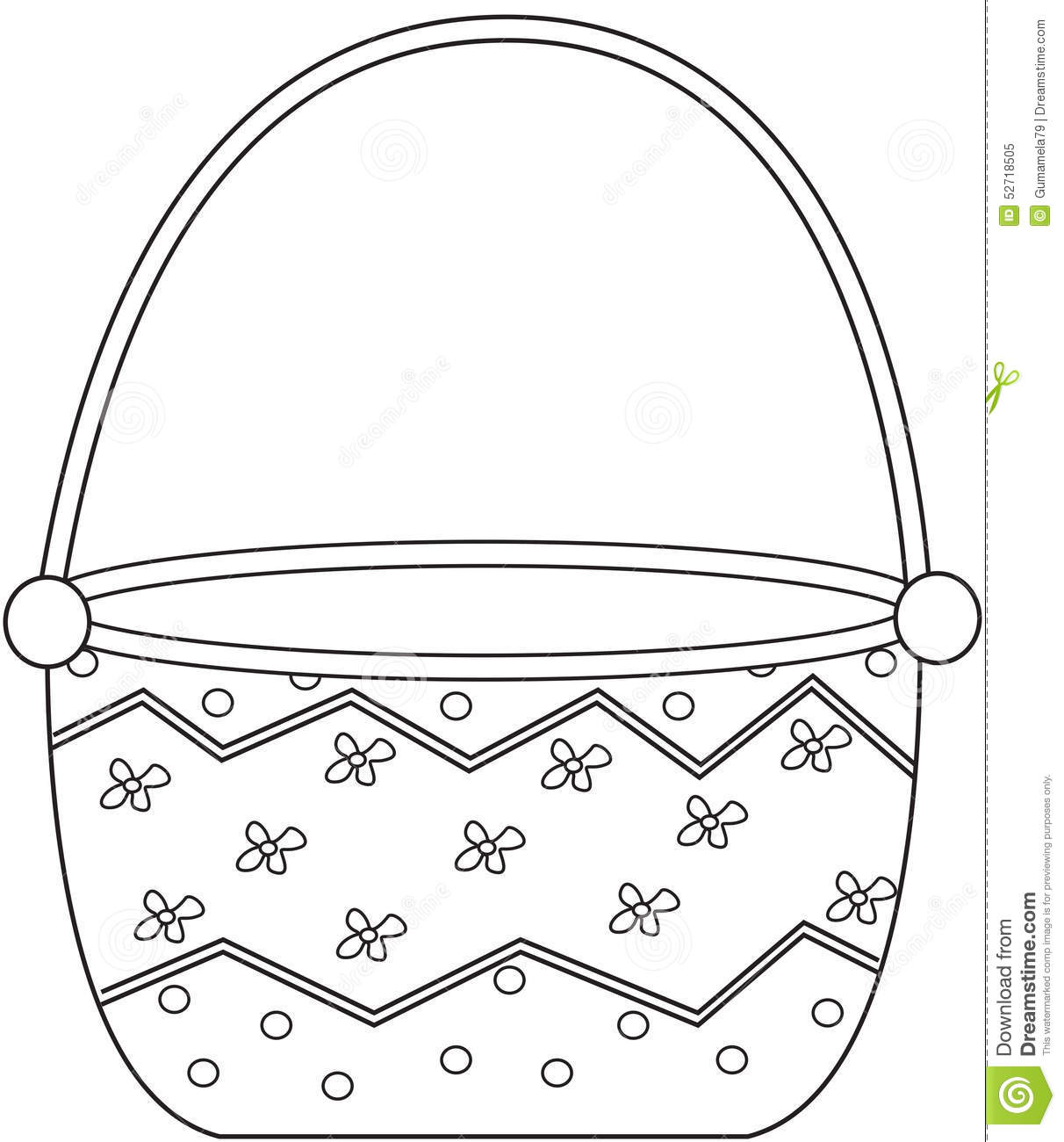 Empty Basket Coloring Page. Basket clipart vegitable - Pencil and in ...