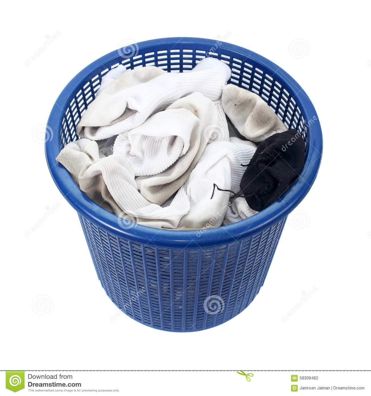 Basket Of Dirty Laundry Dirty Socks Stock Photo Image