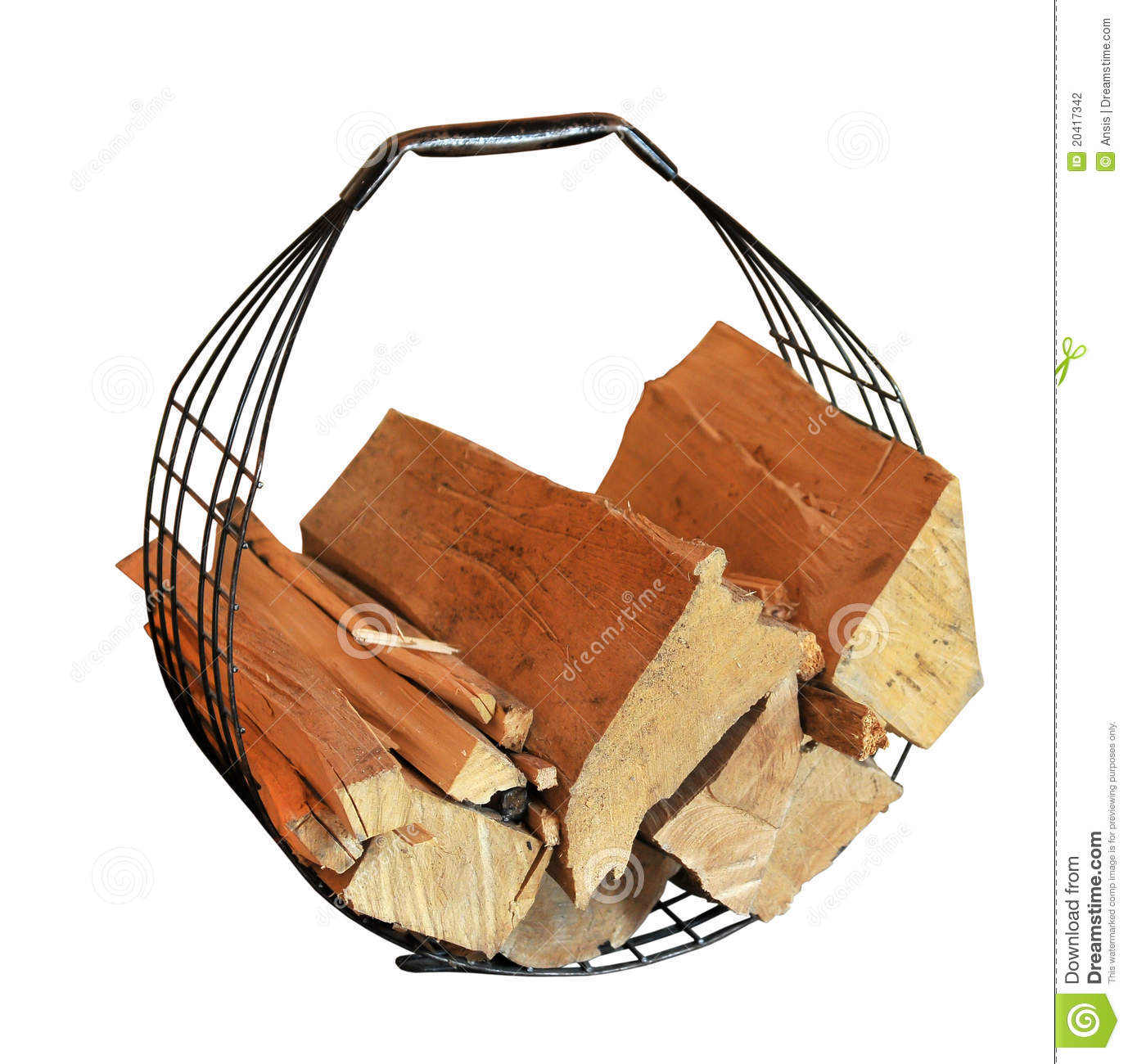 Basket for fire wood