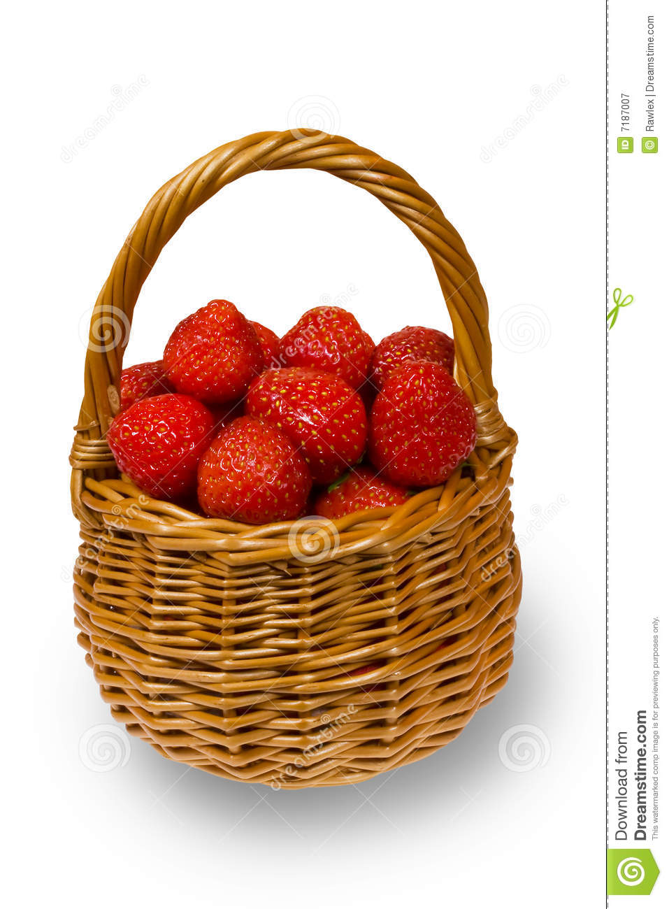 Basket Full Of Strawberries Royalty Free Stock Photography ...