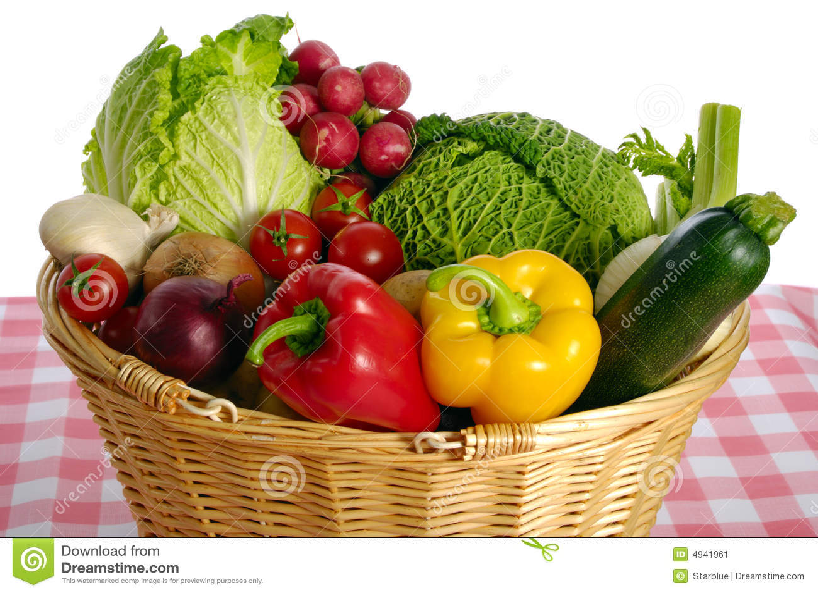Basket Full Of Vegetables Stock Image. Image Of Background