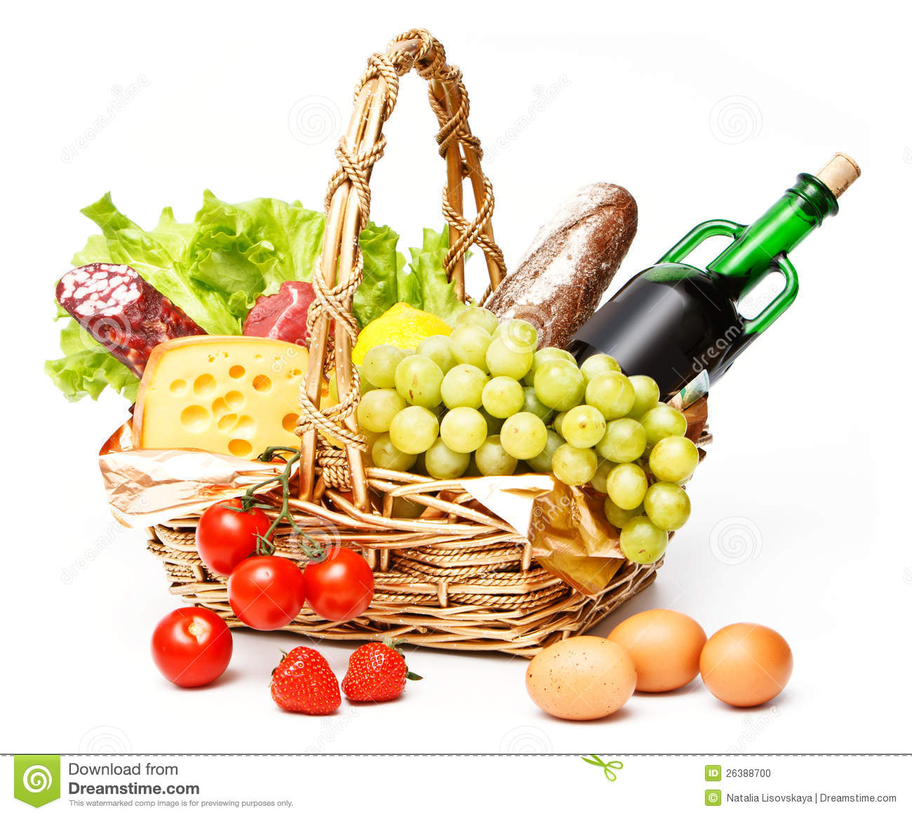 Basket Of Goods Stock Photo - Image: 26388700