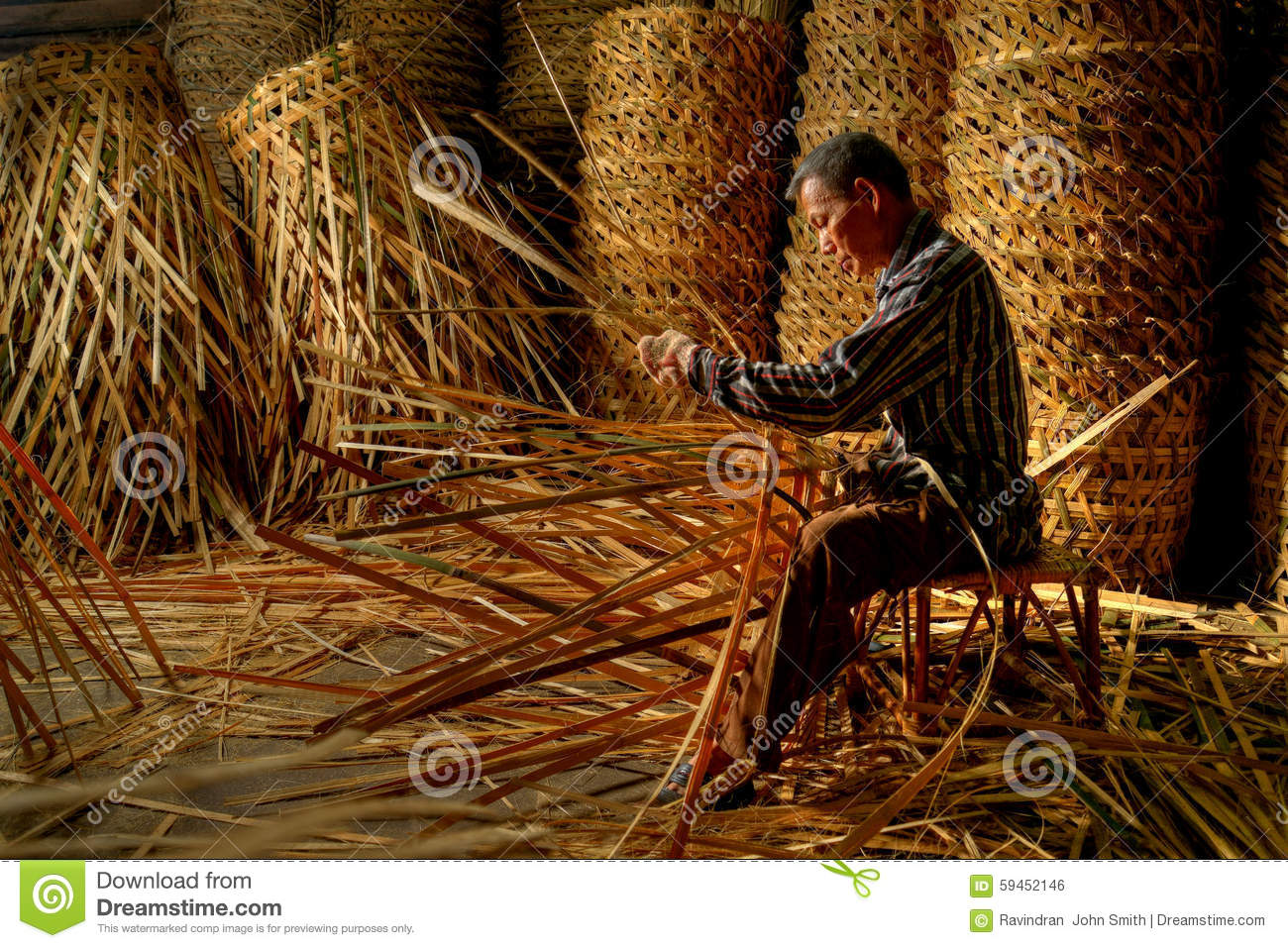 Basket Weaving Process : The basket maker editorial photo image of form malaysia
