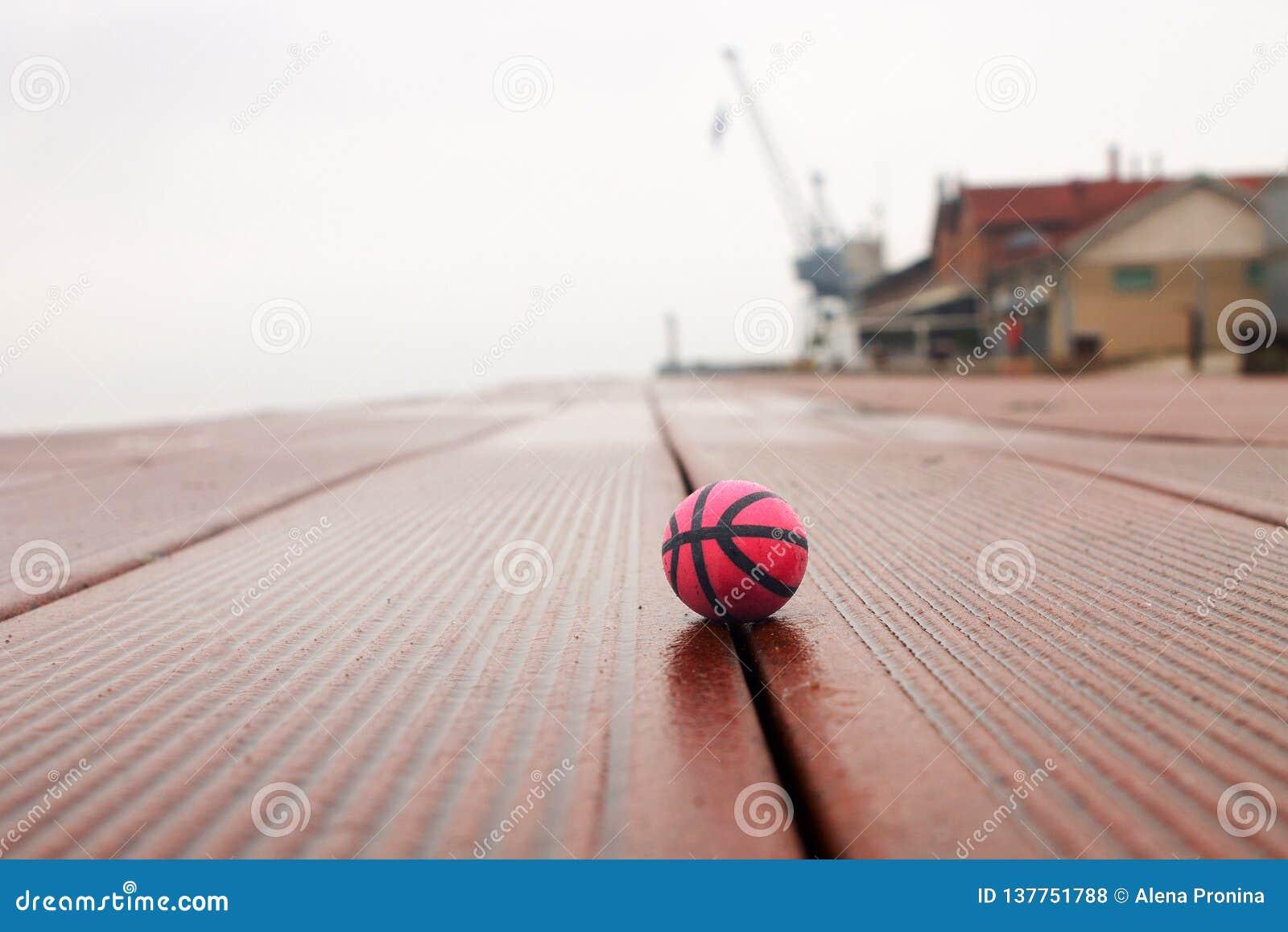 Basket på panelerna i hamnen
