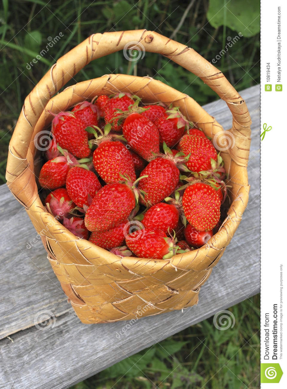 Basket of the strawberries stock photo. Image of ...
