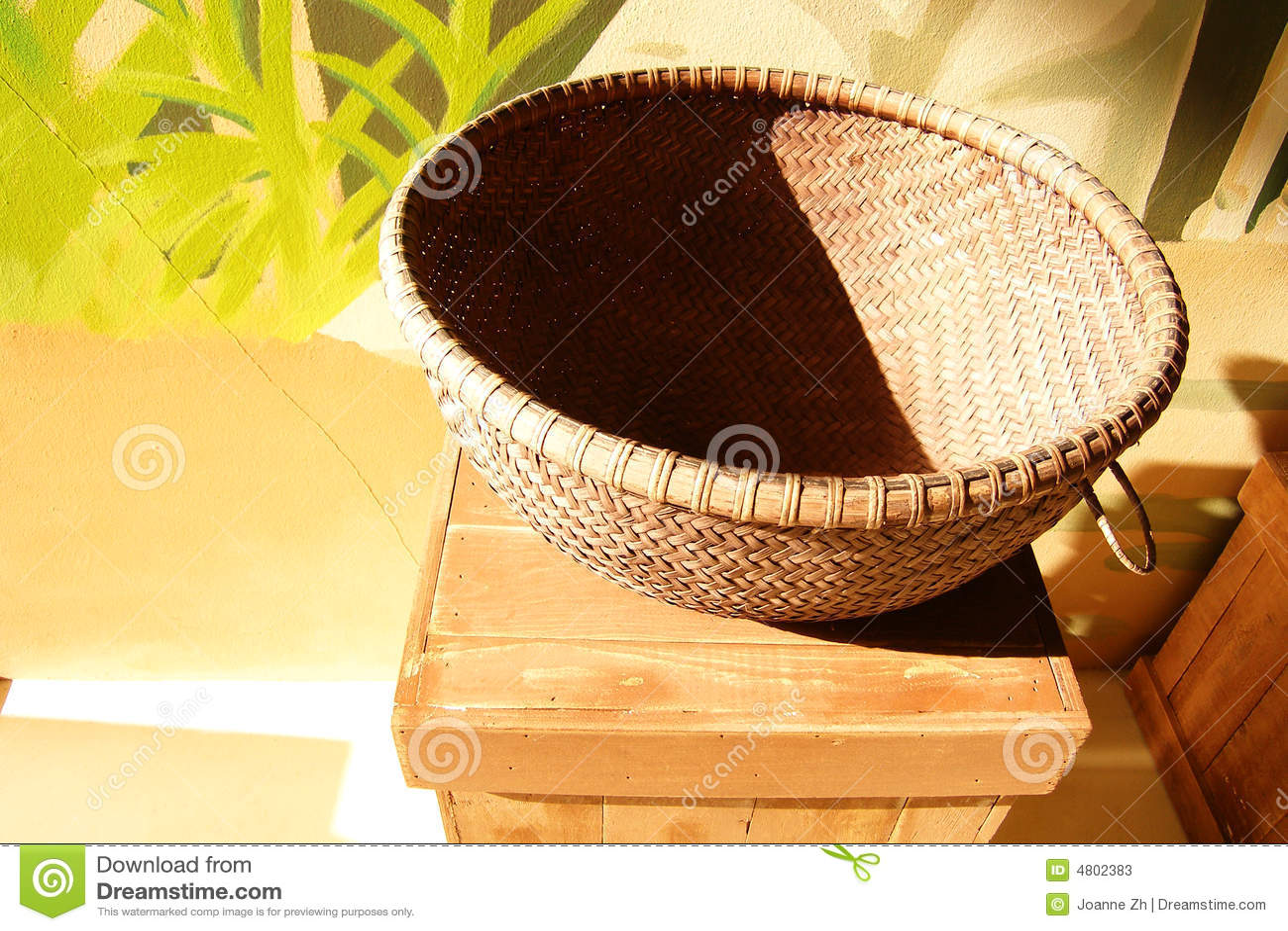 Basket in the sunlight