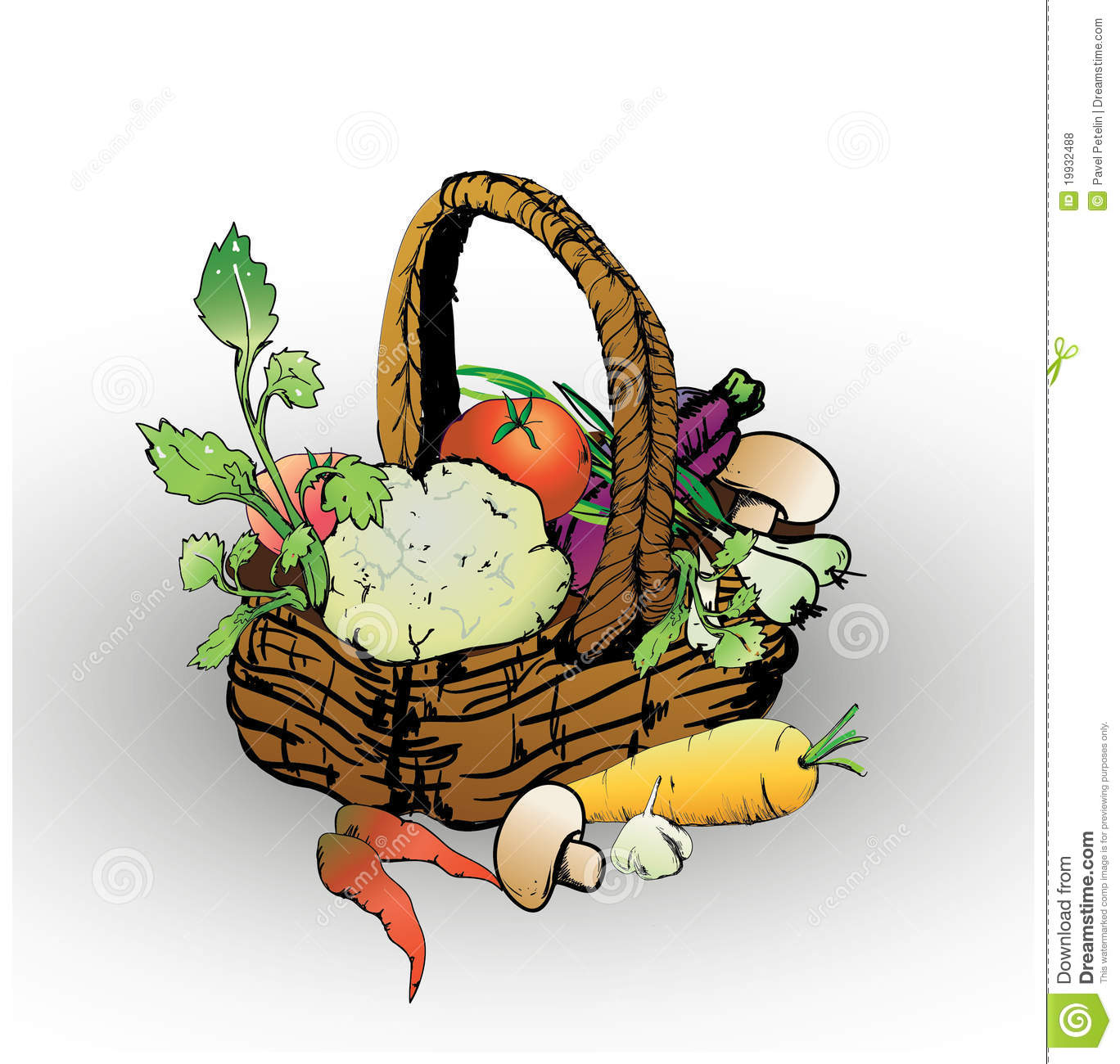 Basket Of Vegetables Clipart : Basket with vegetables royalty free stock photos image