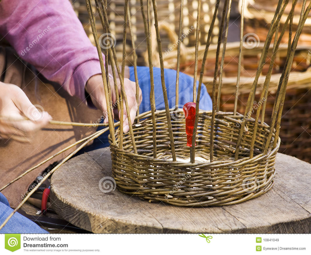How To Weave A Hazel Basket : Basket weaving royalty free stock images image