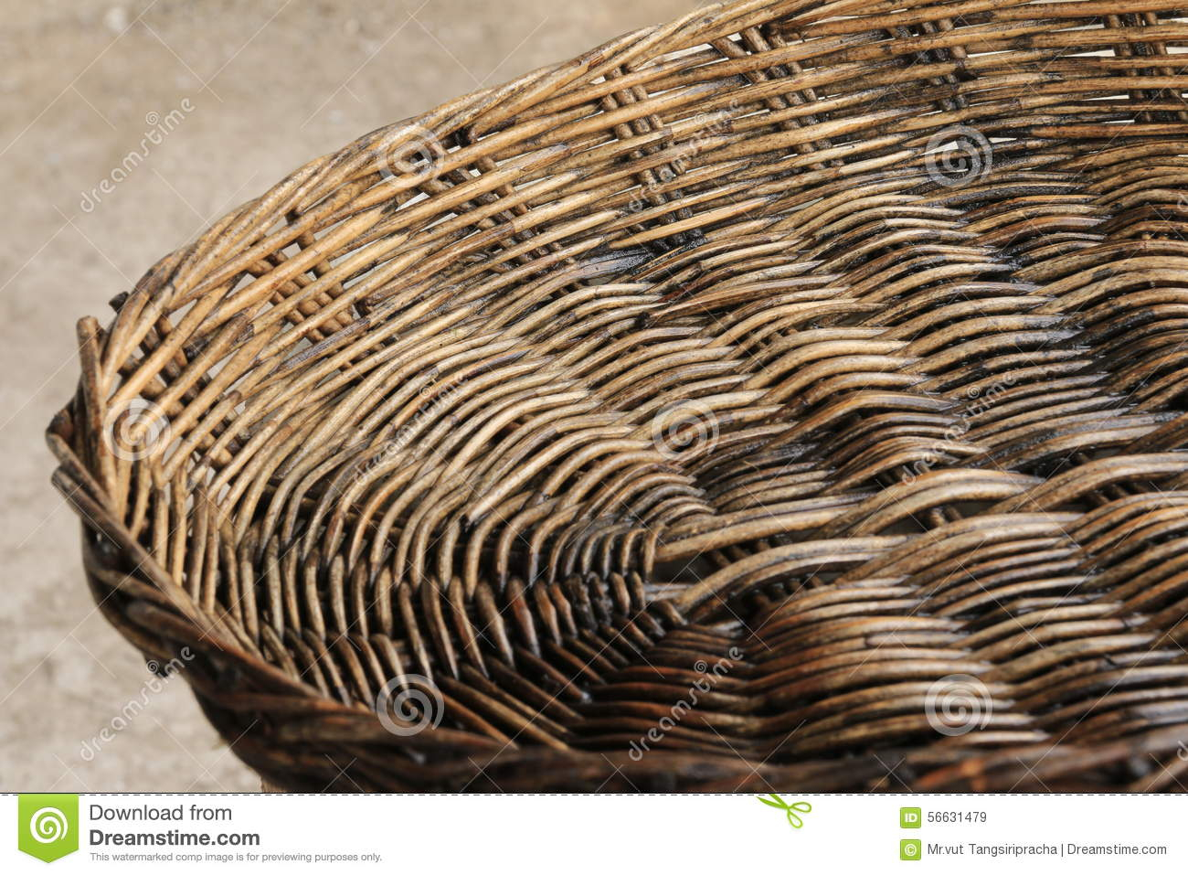 Basket Weaving With Reeds : Basket weaving reeds stock photo image