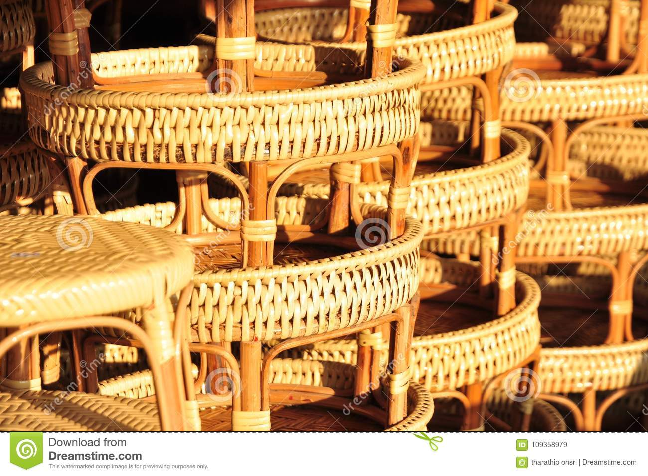 Download Basket Wicker Is Thai Handmade. It Is Woven Bamboo Texture For  Background And Design