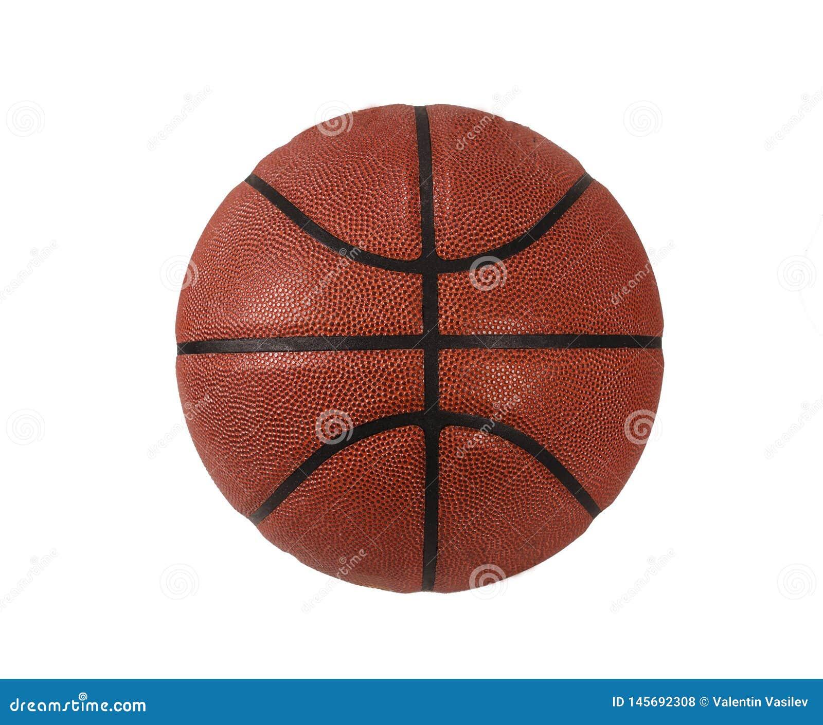 Basketbal dat op witte achtergrond wordt ge?soleerd?