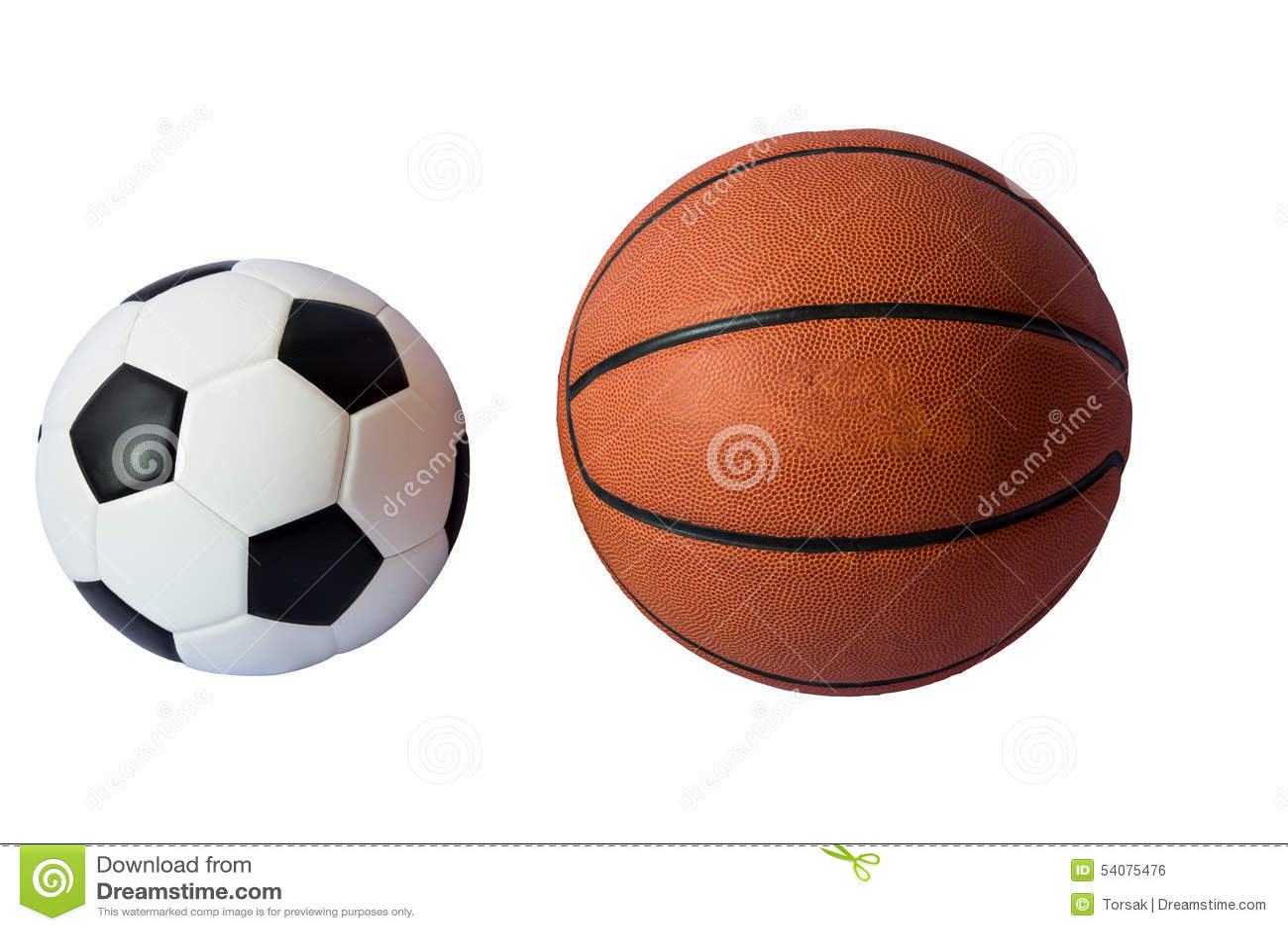 Basketbal en voetbalbal