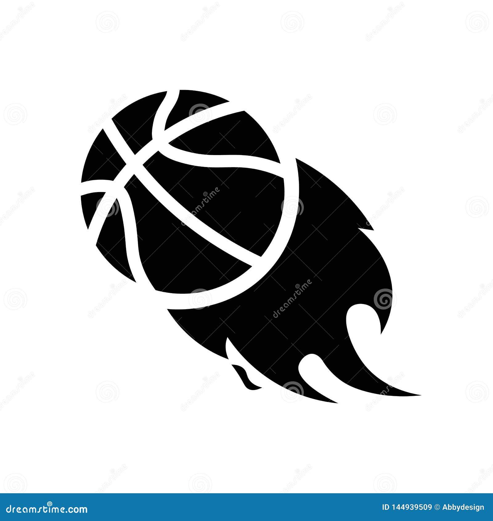 Basketbal op de Vector van het Brandpictogram