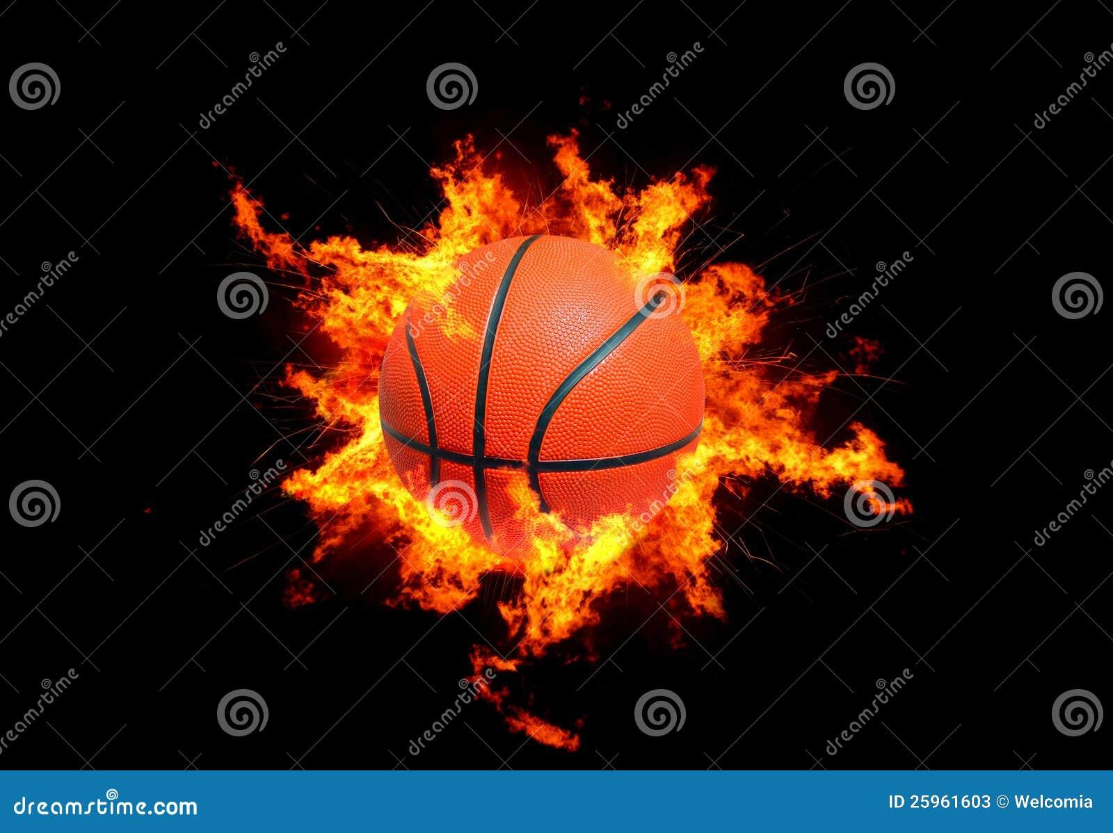 Basketbal in Vlammen