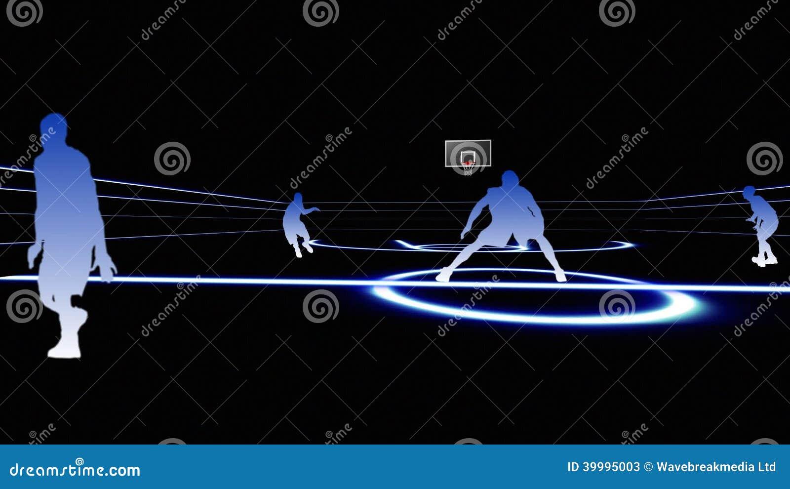 basketball animation 1 stock video video 39995003